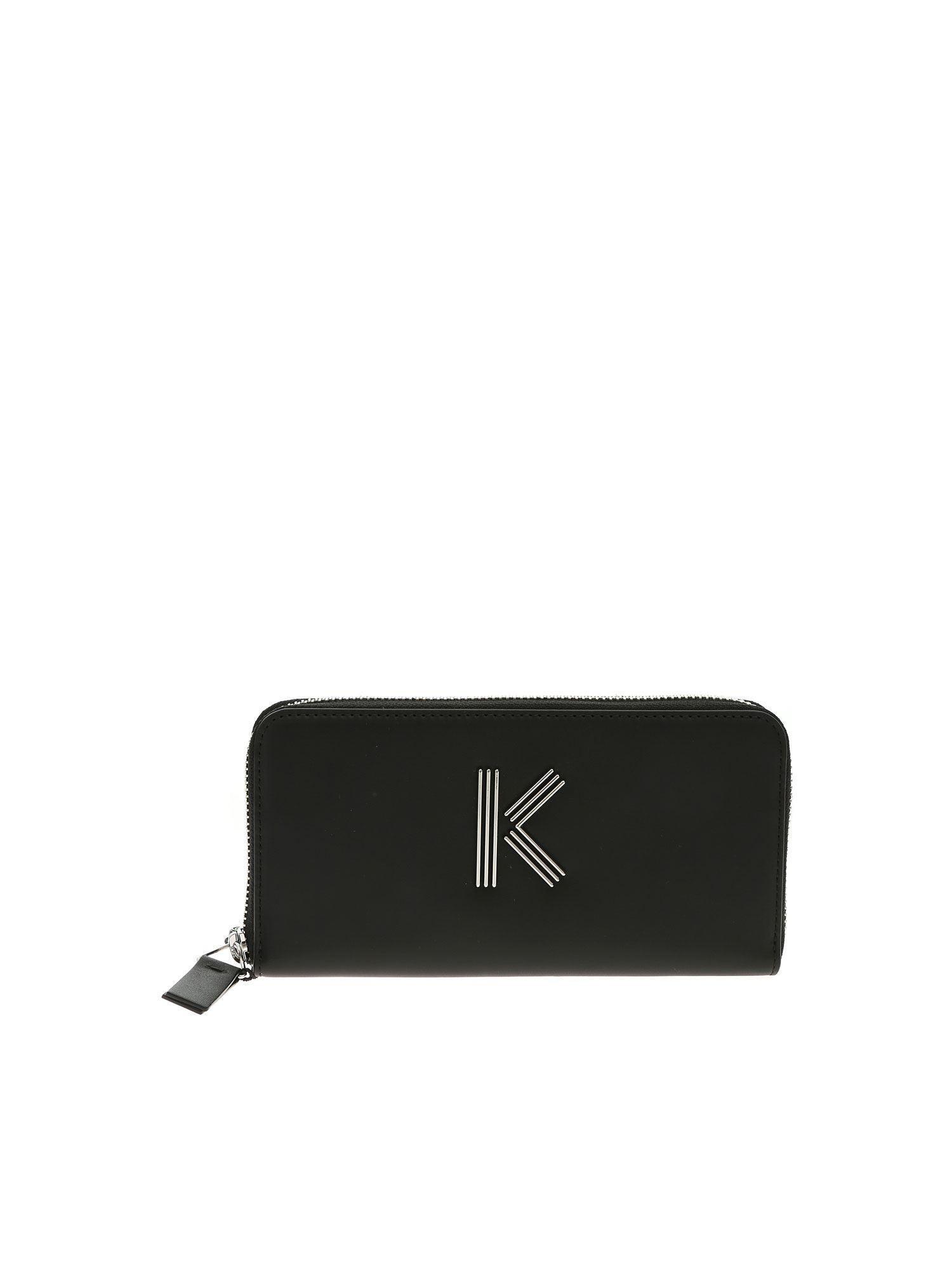 28b29a8804ce KENZO Women s Zip Continental Wallet in Black - Save 7% - Lyst