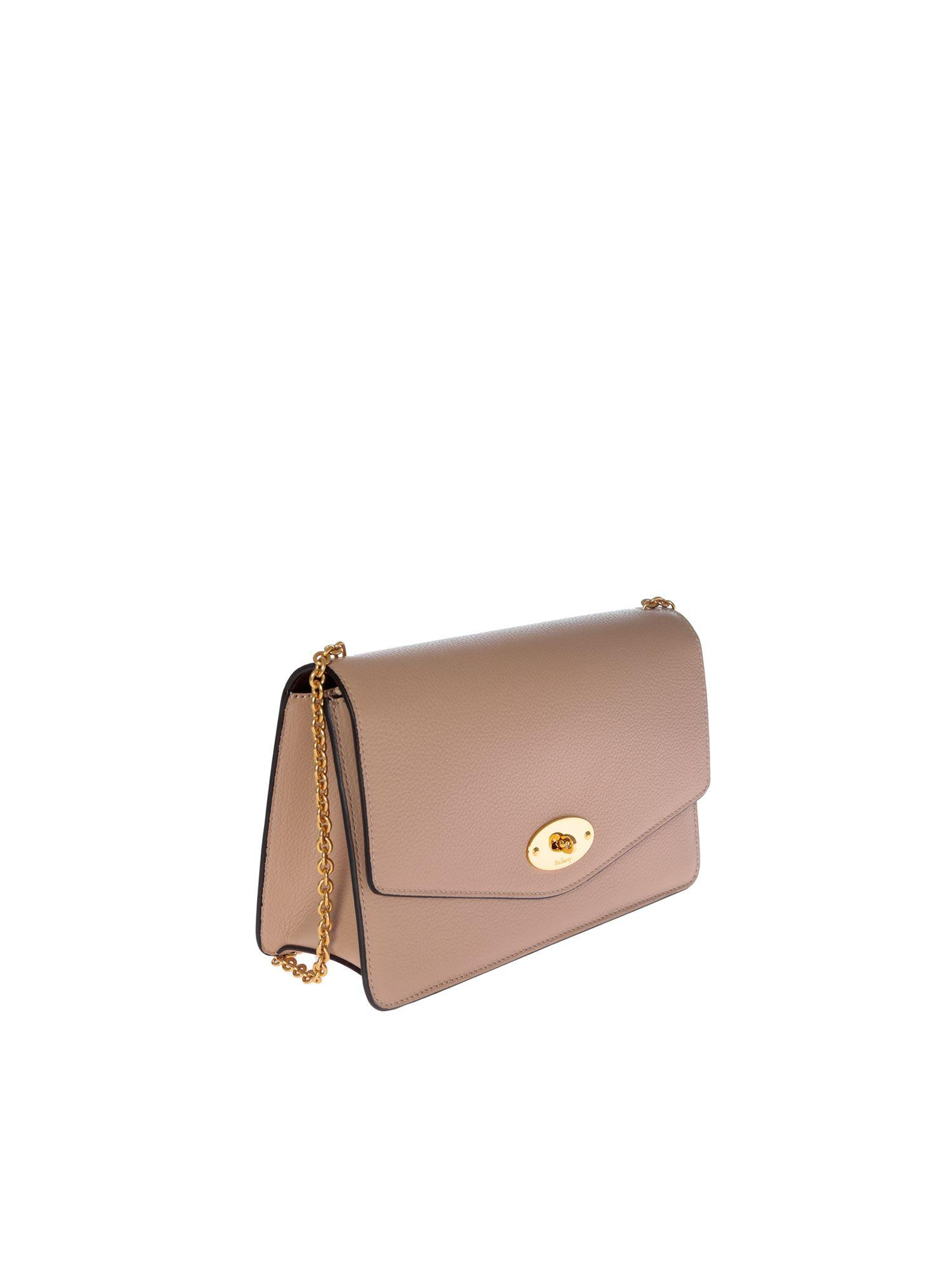 2b65ee70d6 Mulberry - Darley Bag In Pink Grained Leather - Lyst. View fullscreen