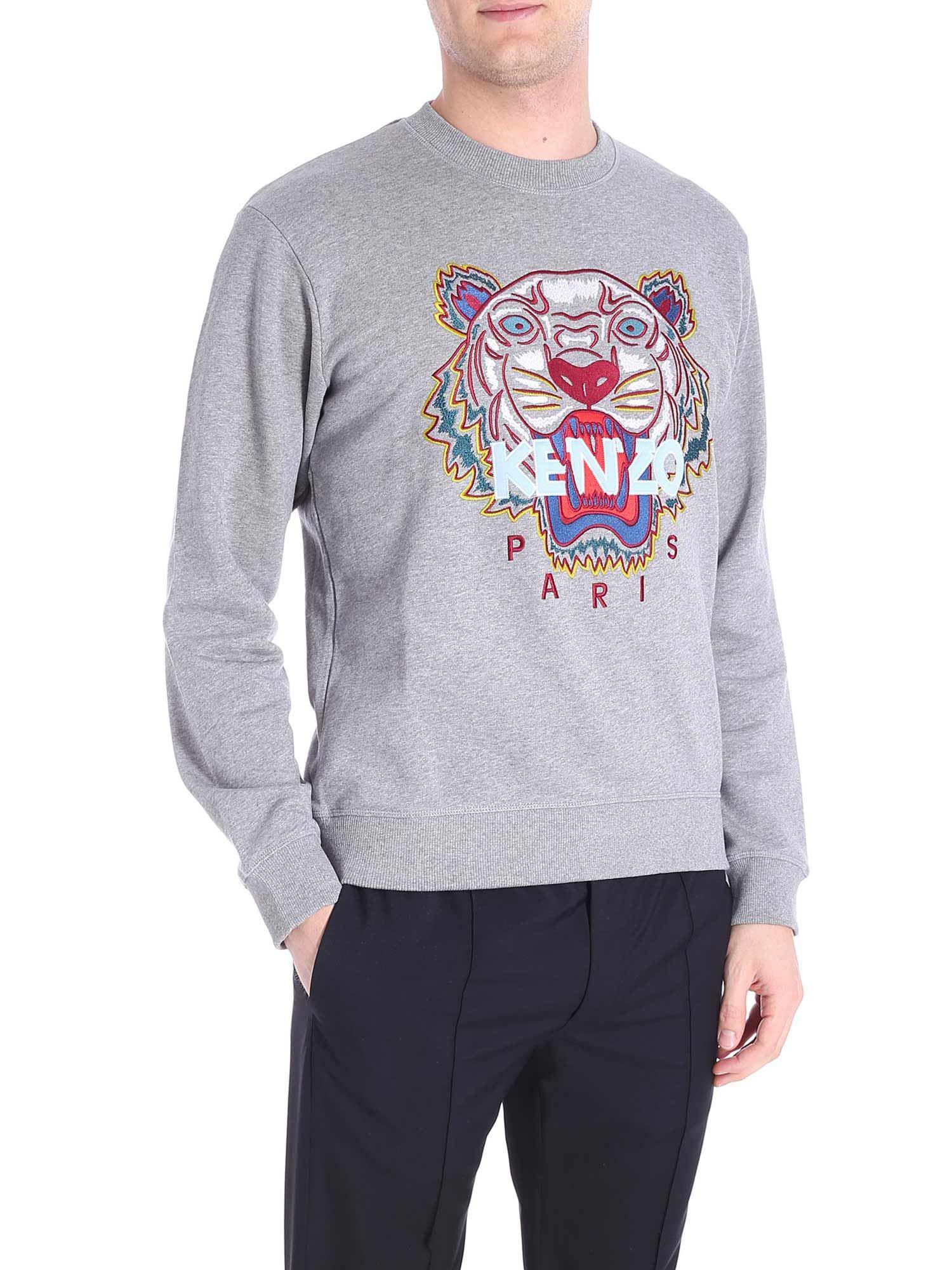 199da2bfb KENZO Multicolor Tiger Gray Sweatshirt in Gray for Men - Lyst