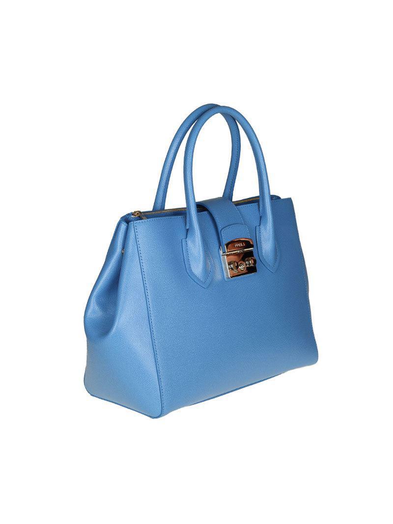 Furla Light blue Metropolis M bag n5RdC2wv