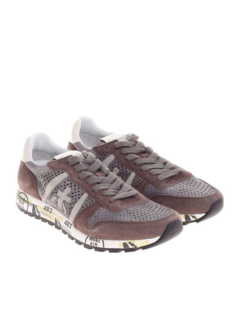 Brown and taupe Eric sneakers Premiata y5I6k9uhm4
