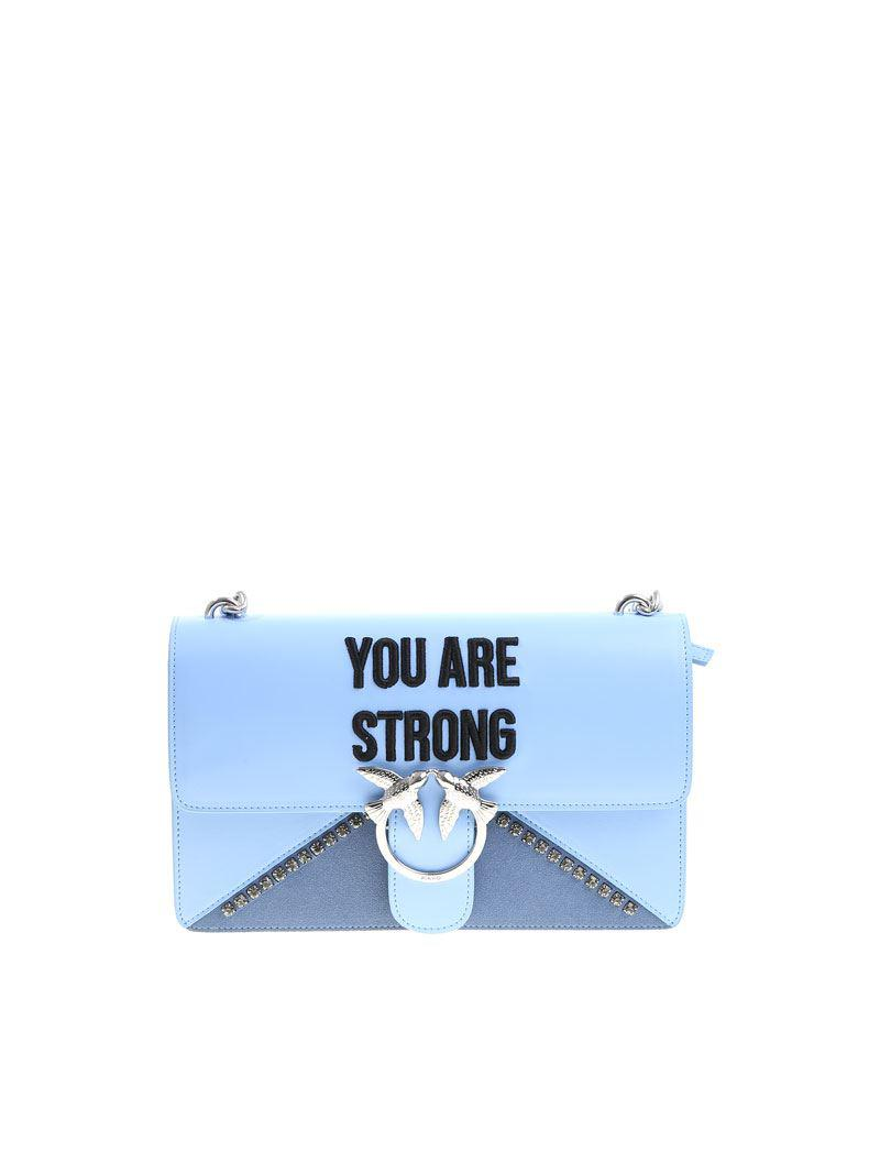 Light blue Love You Are Strong bag Pinko sRbhUovE4s