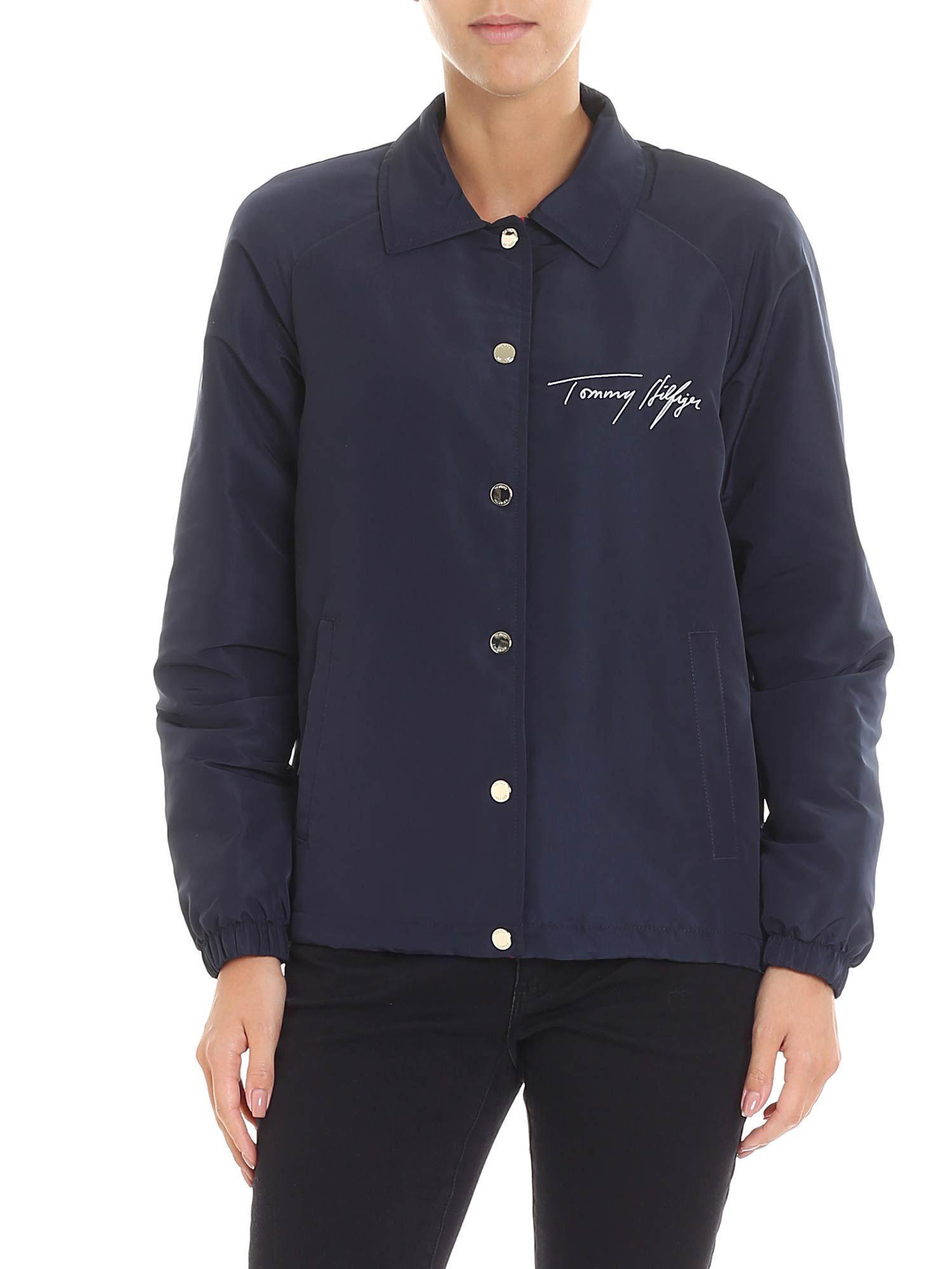 Tommy Hilfiger Amber Blue Jacket in Blue - Lyst 88aef4c101