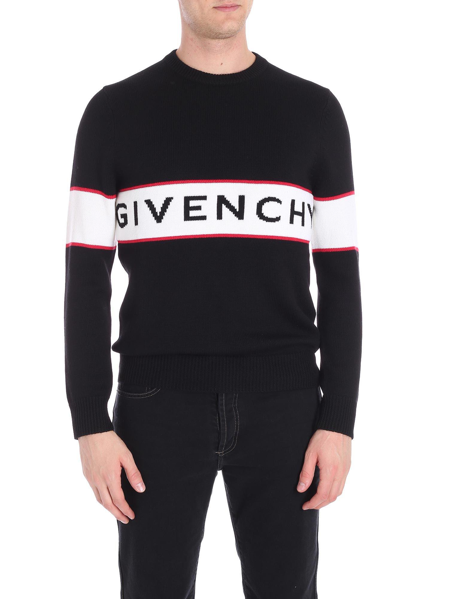 2d698b09a5d1b Givenchy Logo Intarsia Jumper in Black for Men - Save 16% - Lyst