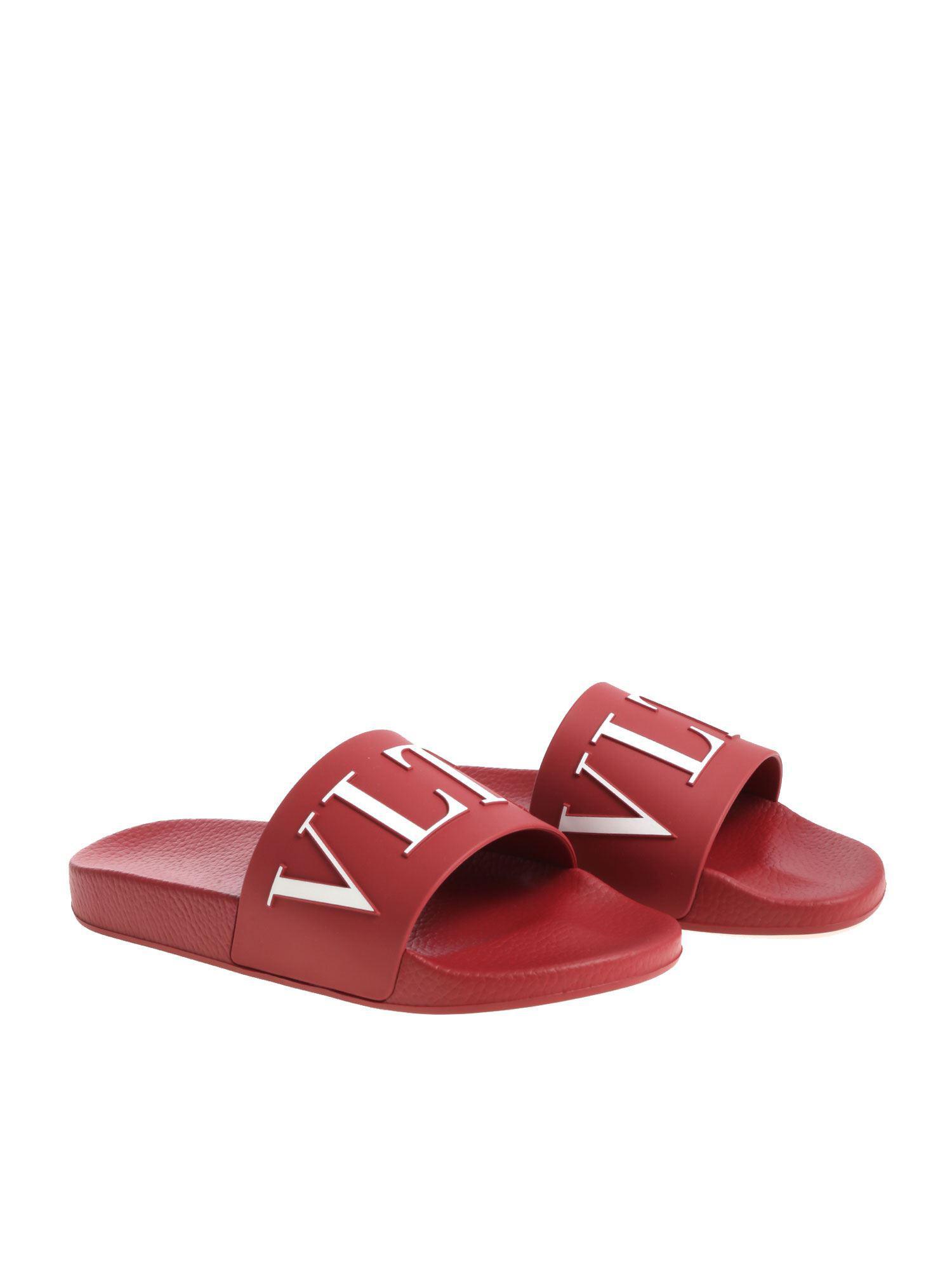 1391aaa2fe495c Lyst - Valentino Garavani Vltn Slides in Red for Men - Save 68%
