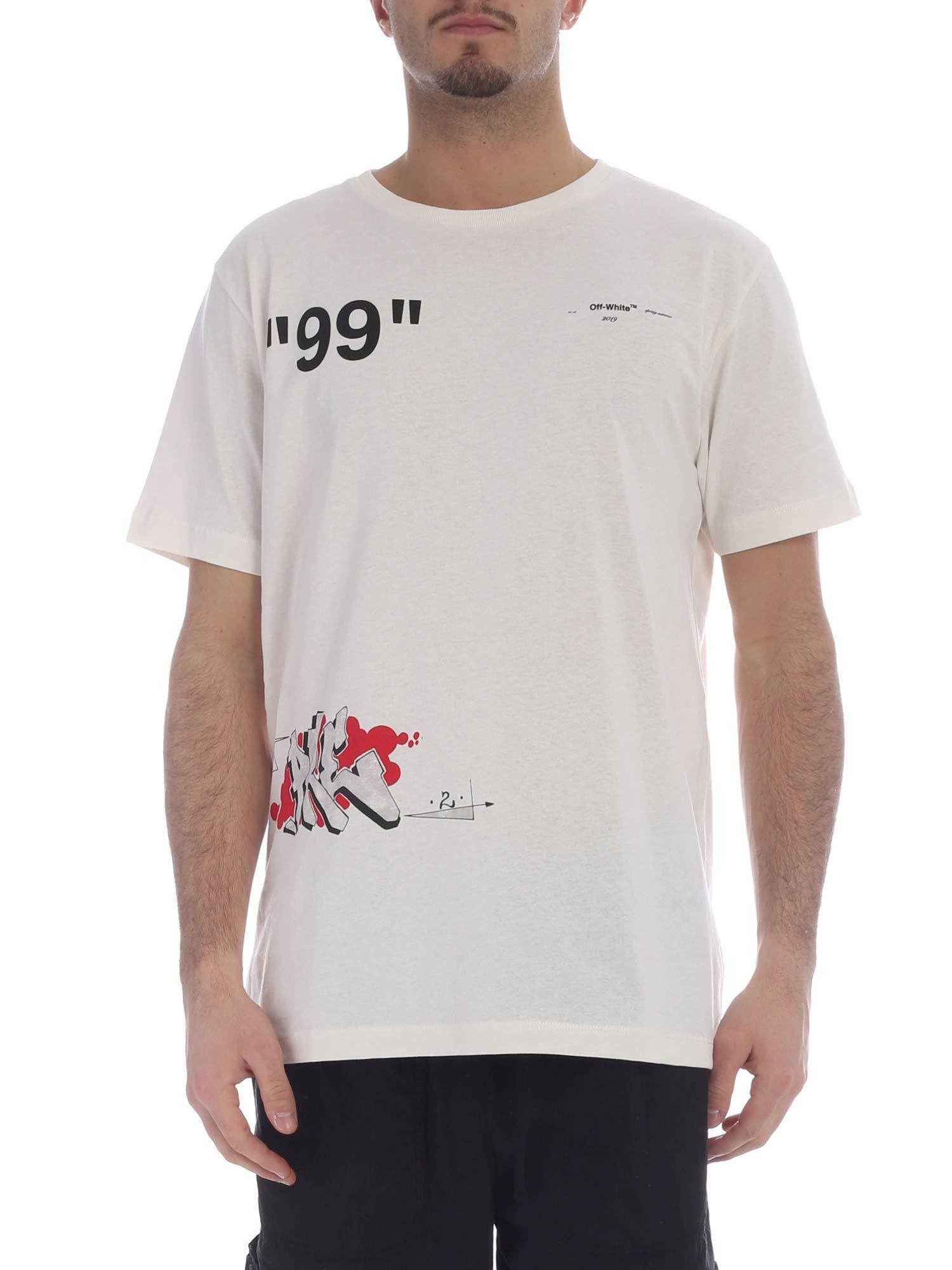 0fed66ccd3f6 Off-White c o Virgil Abloh T-shirt Men in White for Men - Lyst