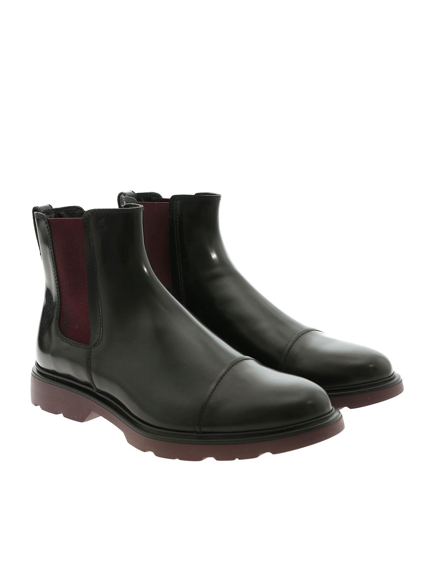 Lyst - Hogan H304 Black Chelsea Ankle Boots in Black for Men - Save 10% 18525bbb4ea