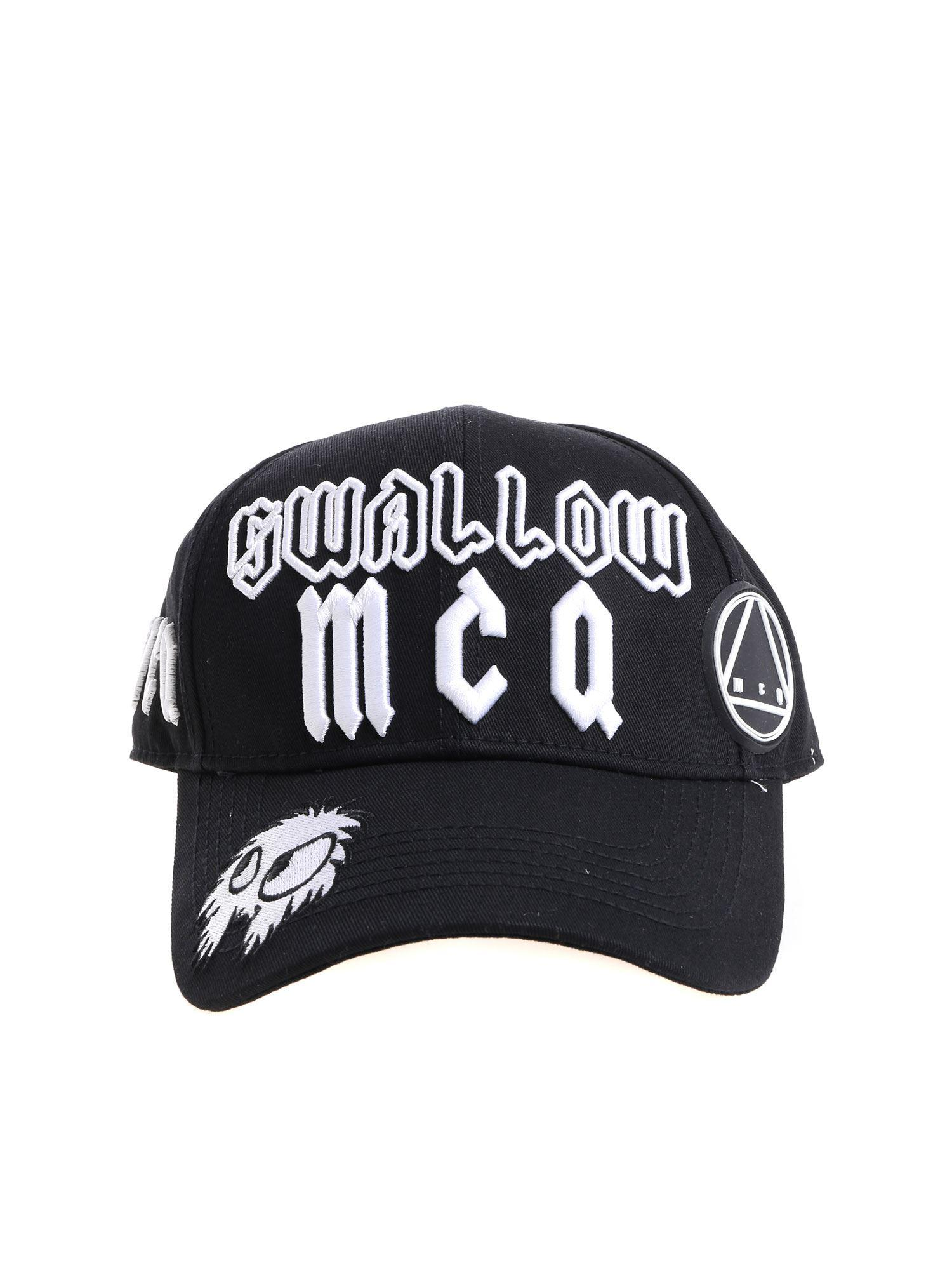 da9544f0e743ba Alexander McQueen Black Baseball Cap With Logo in Black for Men - Lyst