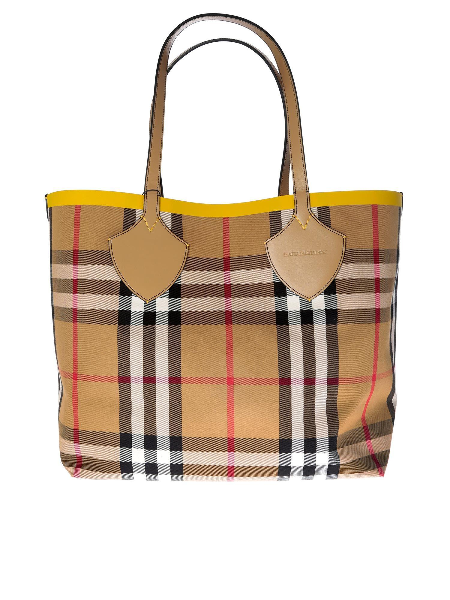 8b545c9f2a9d Lyst - Burberry Large Yellow The Giant Bag in Yellow