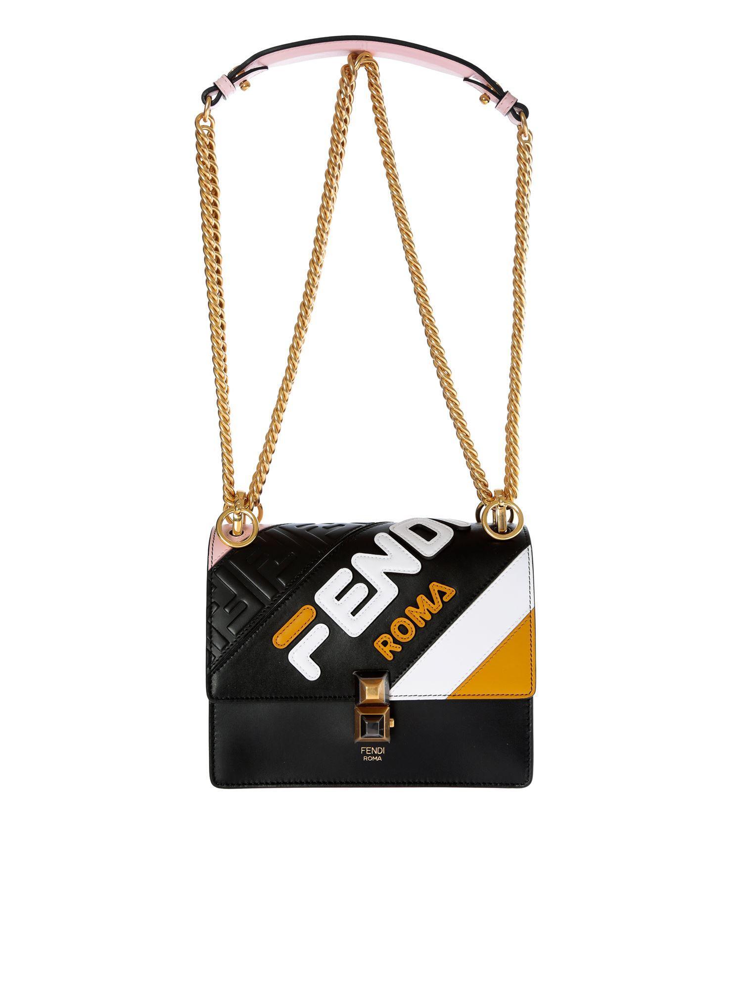 2e7526467b75 Fendi Kan I Small Black Bag in Black - Save 19% - Lyst
