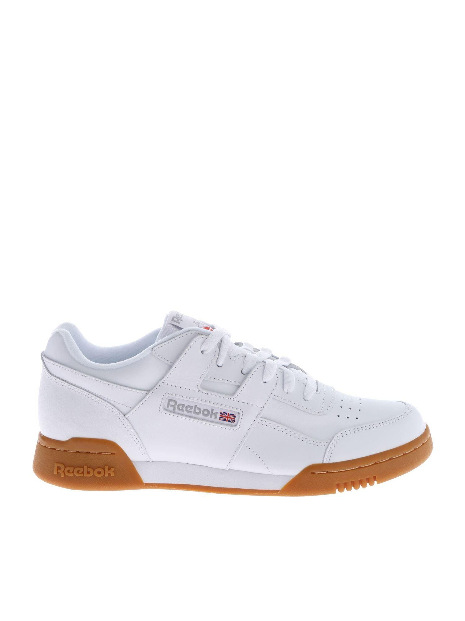 c2a91a4851a1f Reebok - Workout Plus White Sneakers for Men - Lyst. View fullscreen