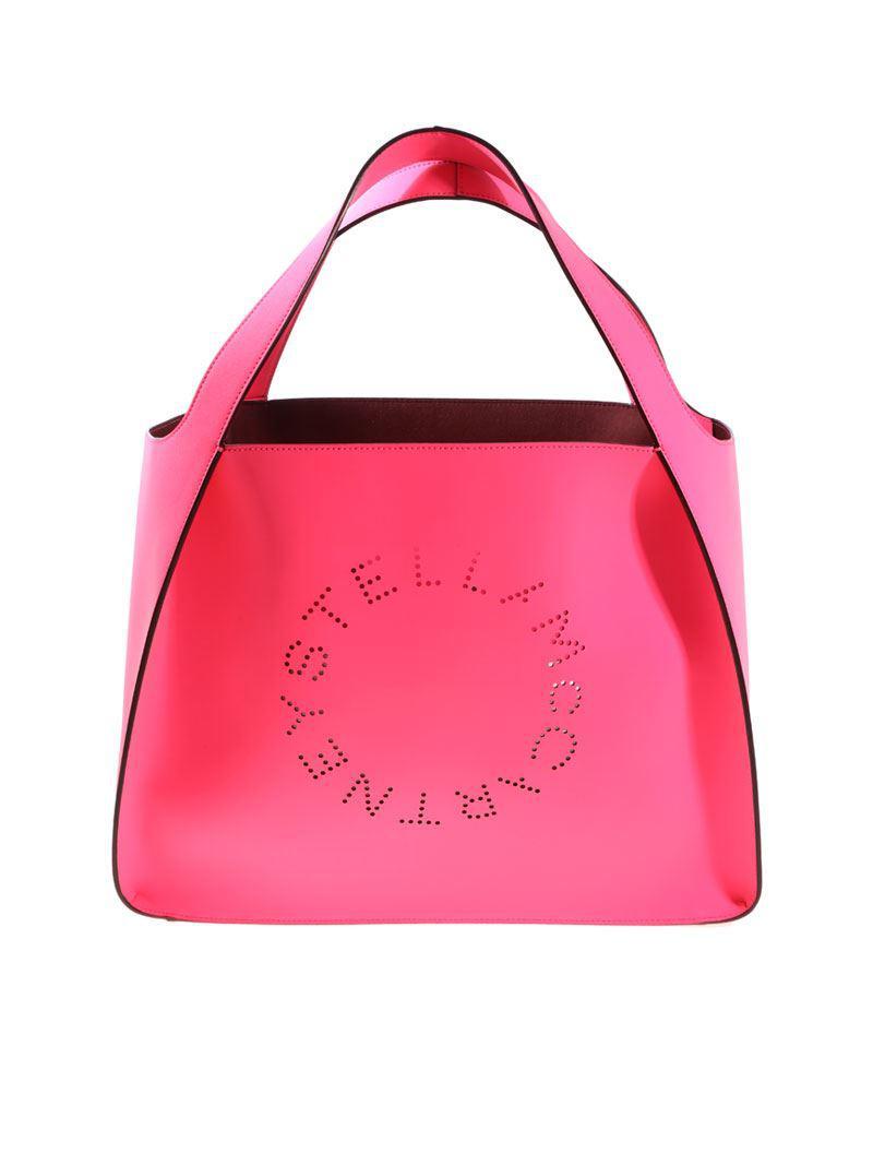 Stella McCartney Black Tote bag with pierced logo h9tdujTvwD