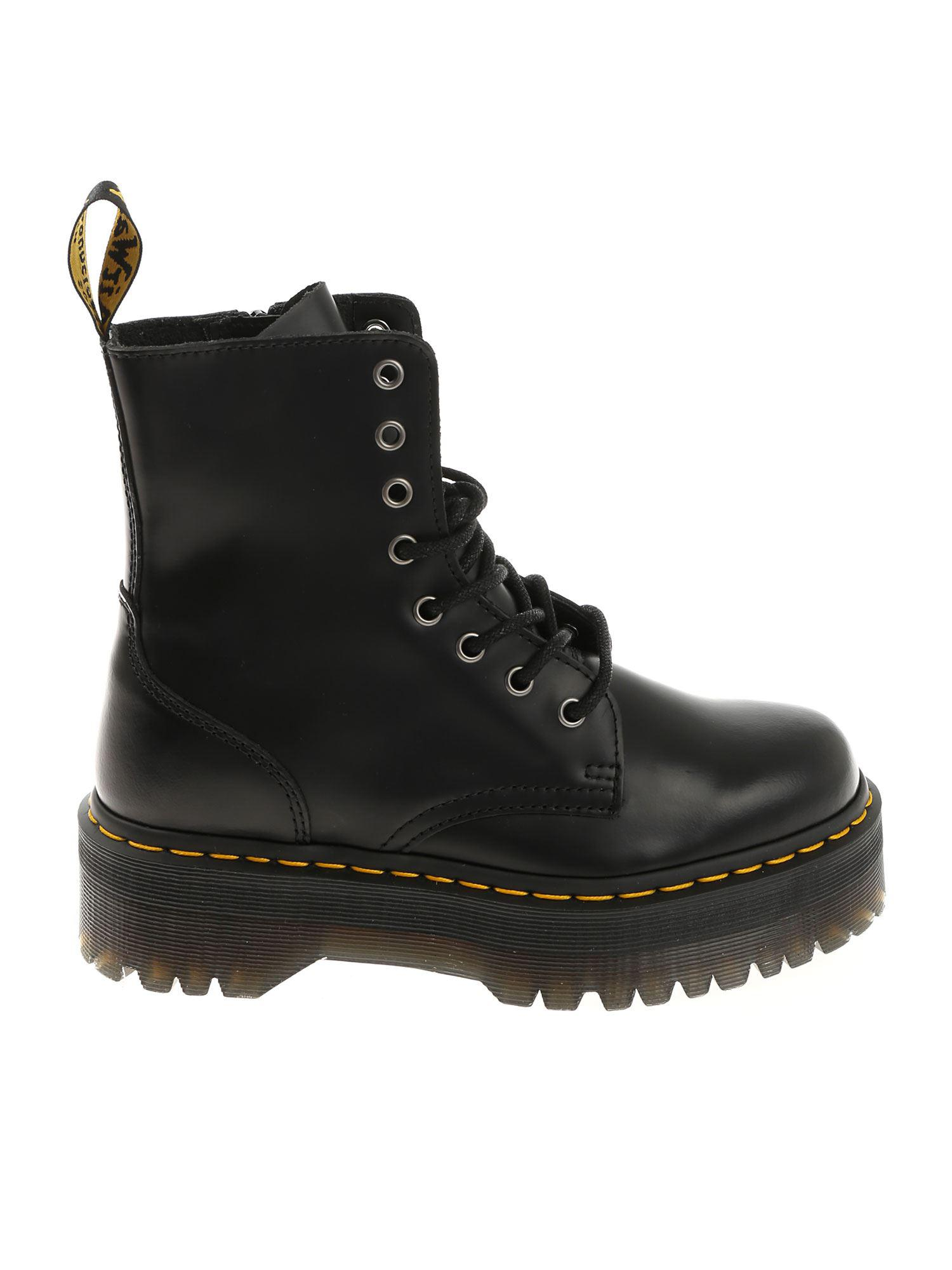 0f8a4ae8dba3 Dr. Martens Black Jadon Ankle Boots in Black - Lyst