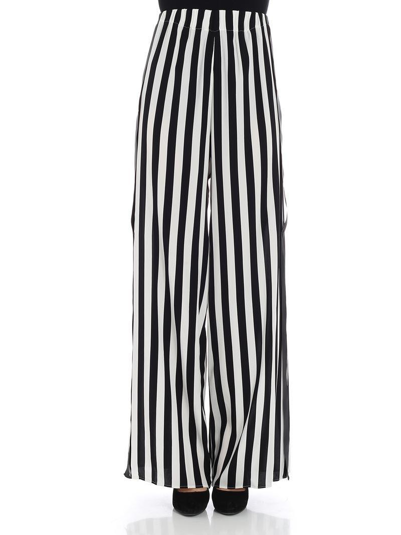 Big Sale striped palazzo trousers - Black Federica Tosi In China Online Extremely Online Qcg63