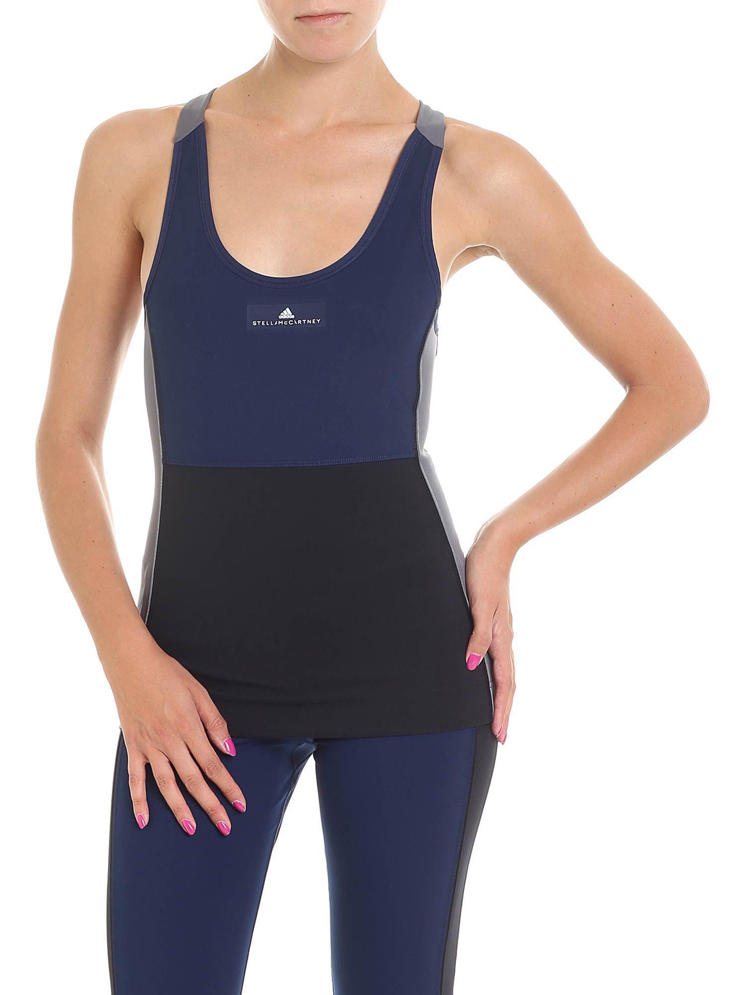af35ee8e2a4 Lyst - adidas By Stella McCartney Yoga Comfort Top in Blue