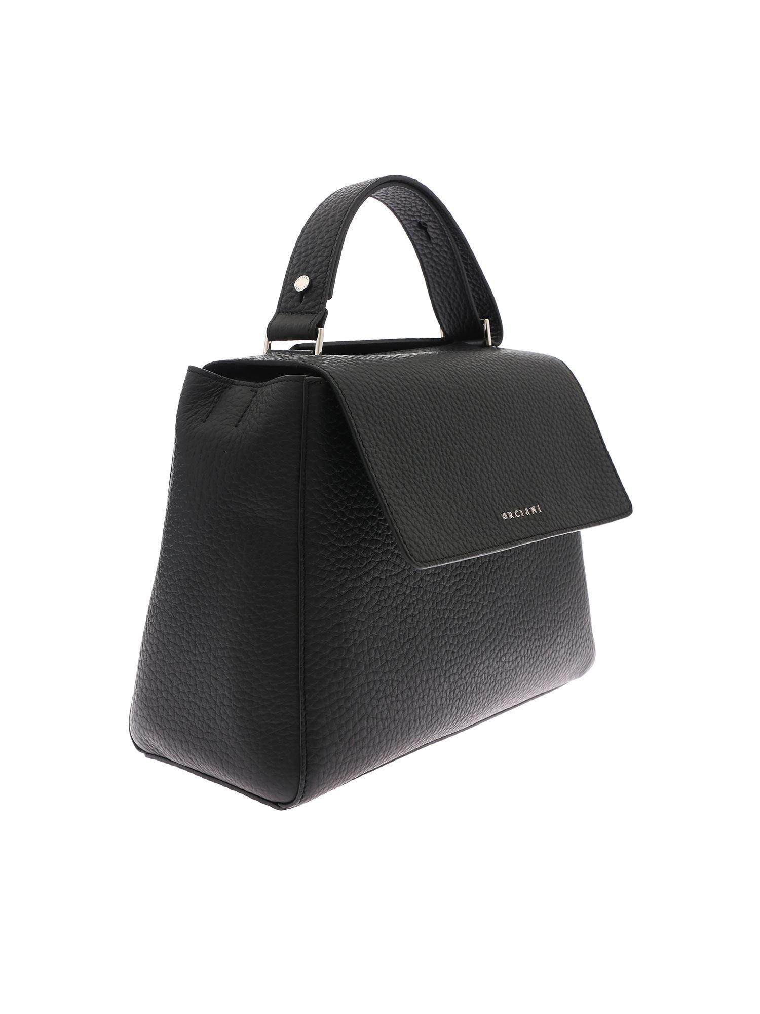 5280a5c0f88f Lyst - Orciani Black Sveva Hand Bag in Black