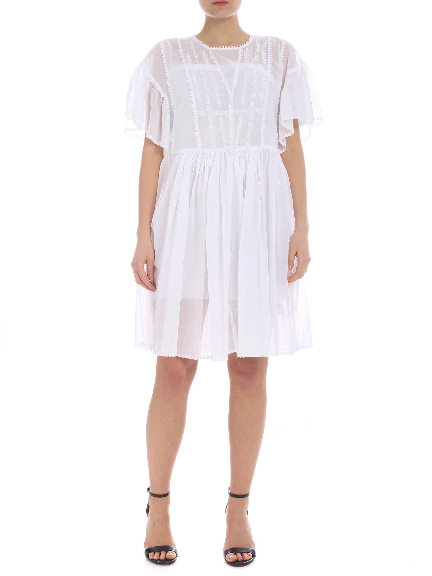 7d6013f9061 Lyst - Étoile Isabel Marant White Annaelle Dress in White