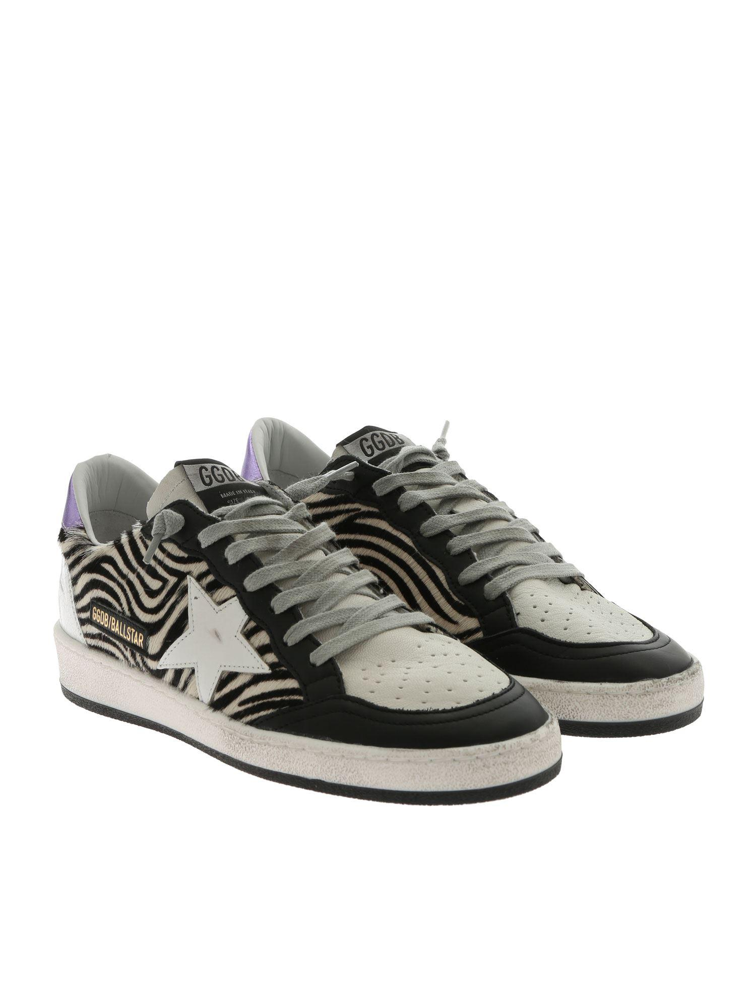 729dd9c4ebc4a Lyst - Golden Goose Deluxe Brand Ball Star White And Black Sneakers in White