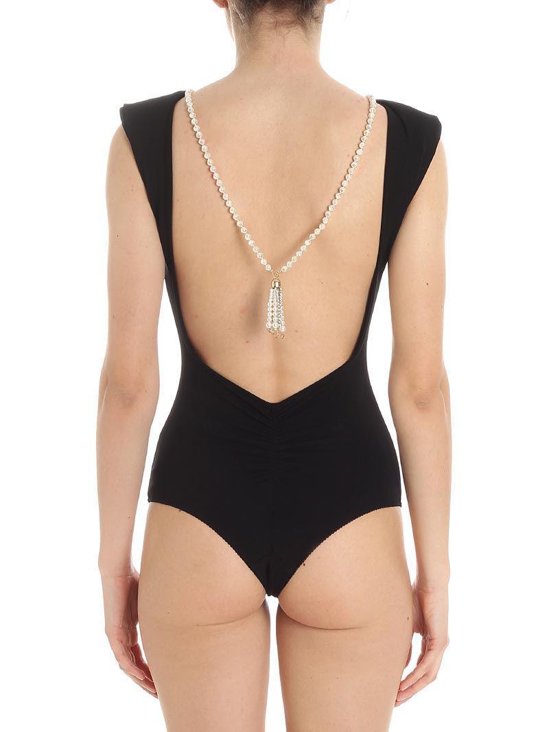 Black body with jewel necklace Elisabetta Franchi Cheap Discount Sale Collections 9QvCU9Wgcl