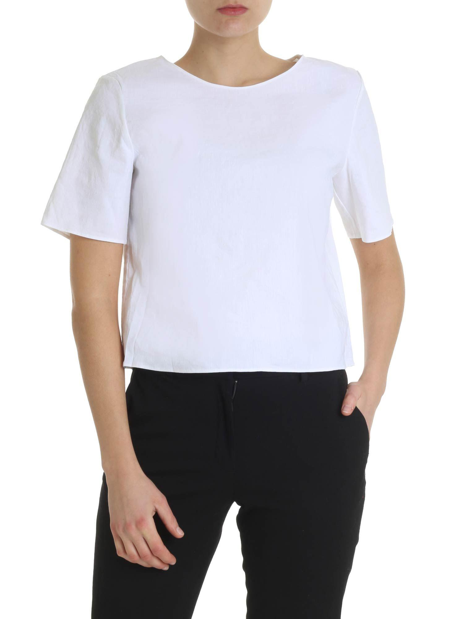 9dd7d55d039a Theory Semi-transparent White T-shirt in White - Lyst