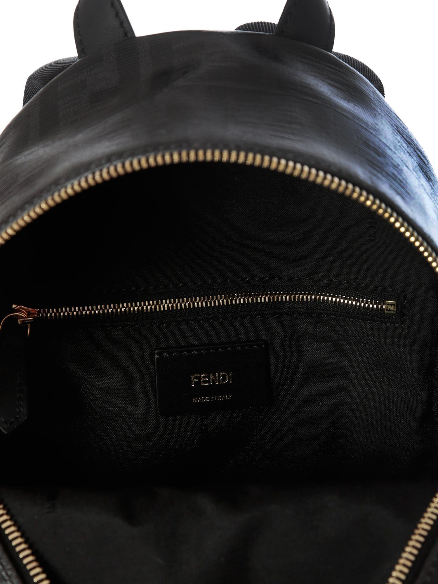 288523288e50 Fendi - Black Mania Mini Backpack - Lyst. View fullscreen