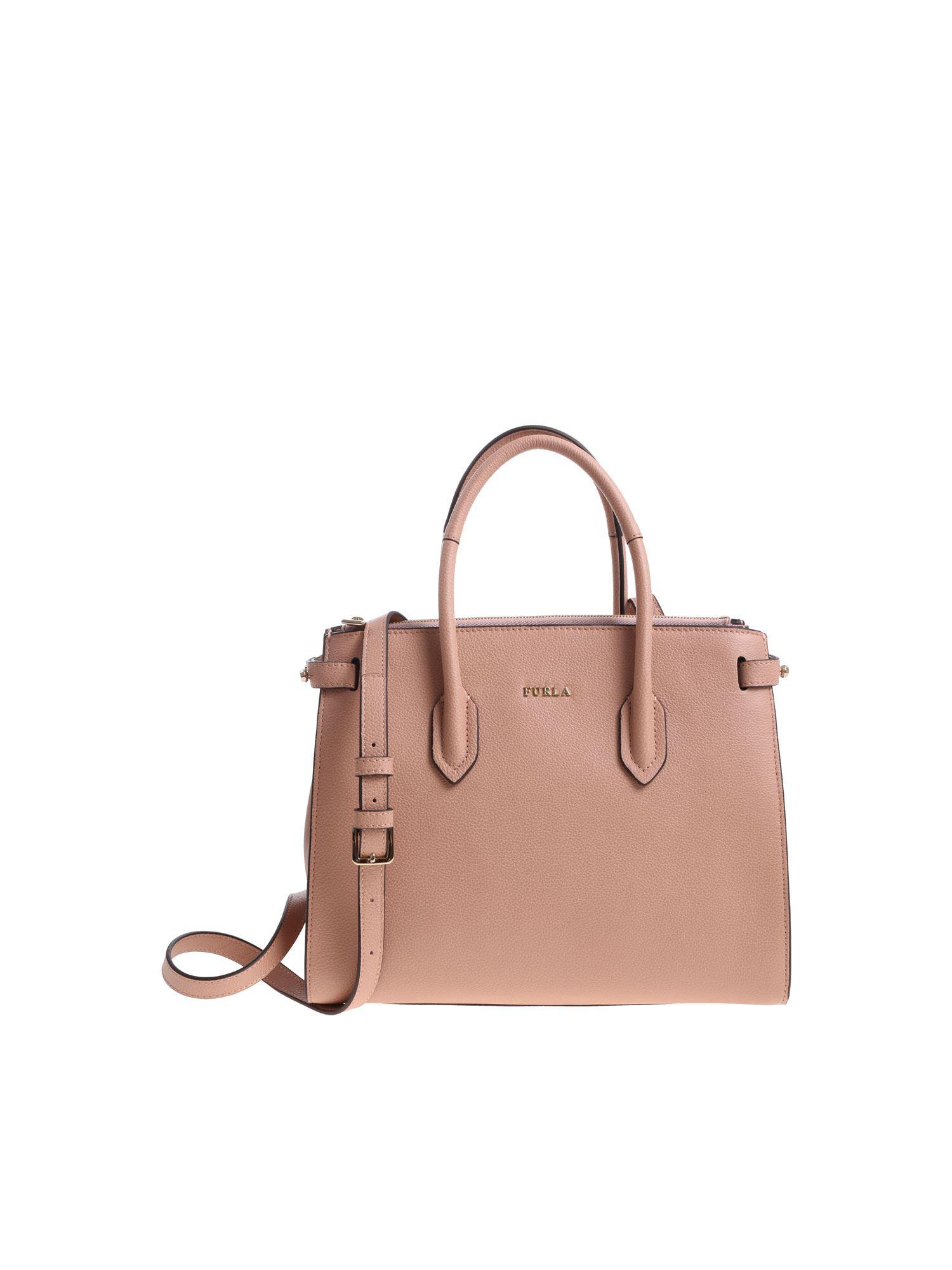 Furla Pink Pin Hand Bag in Pink - Lyst bd5f988f943