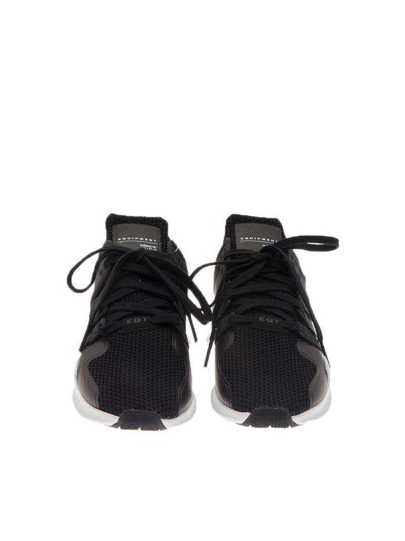 13e147ebdfc5 View fullscreen  best service cef46 ccf34 Adidas Originals - Black Eqt  Support Adv Sneakers for Men - Lyst