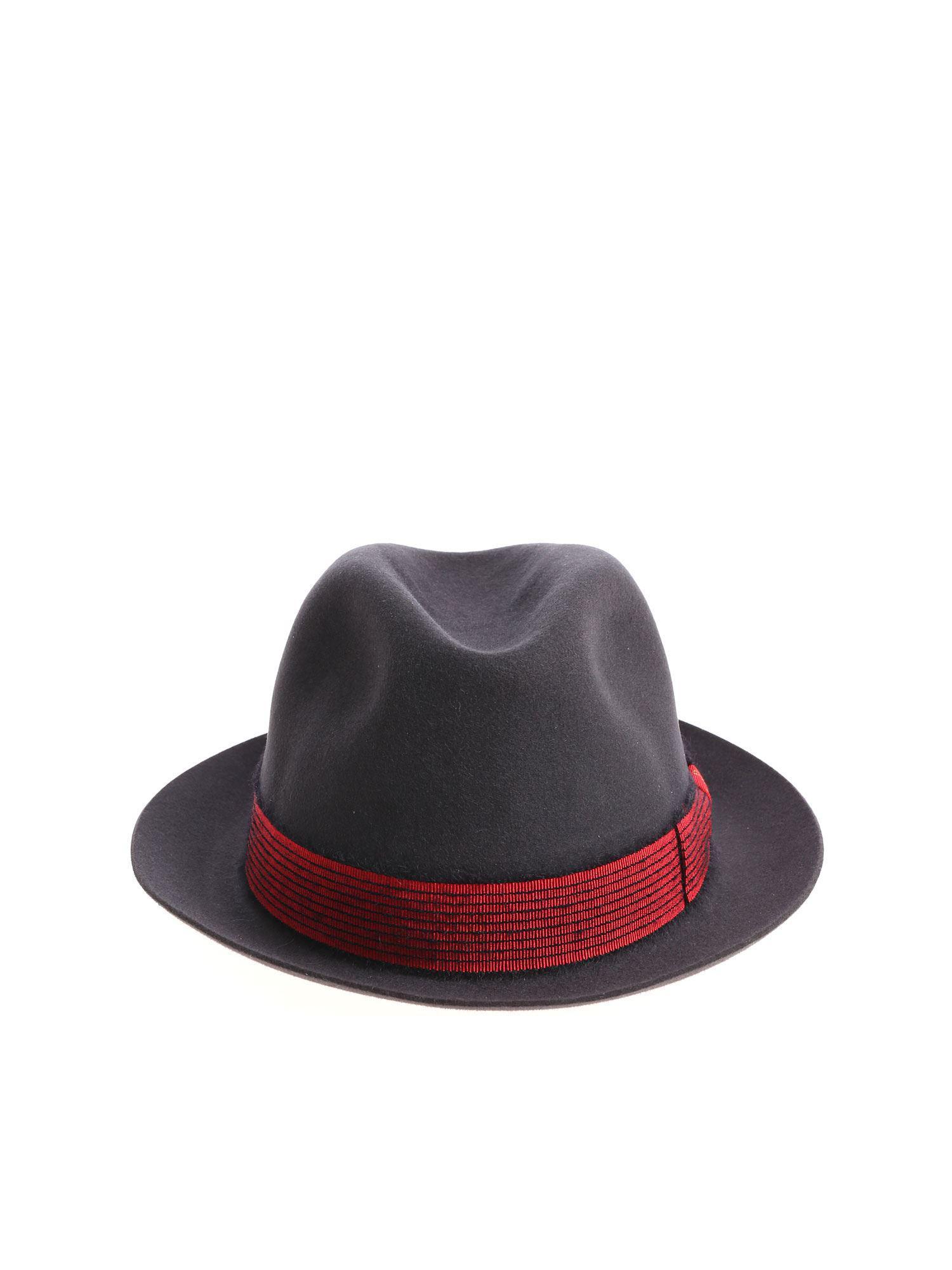 8da164de3e4 Lyst - Borsalino Dark Grey Felt Alessandria Hat in Gray for Men