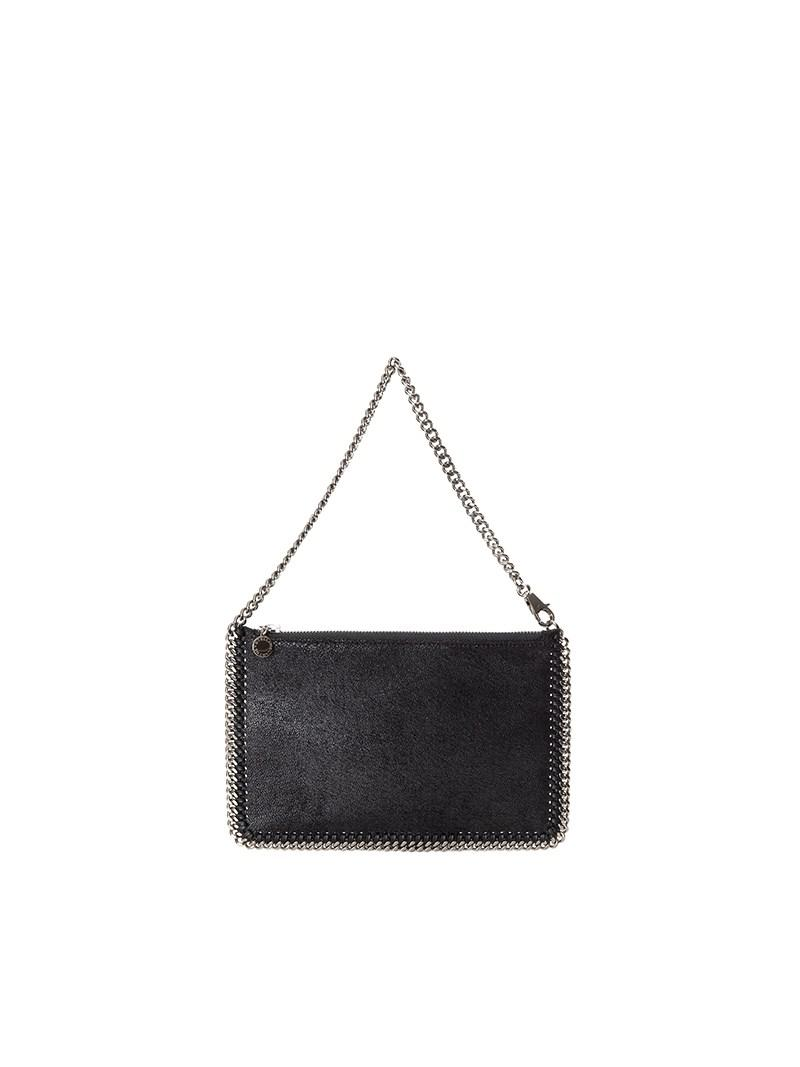 f42d285bcd6 Stella Mccartney Falabella Shaggy Deer Zip Clutch in Black - Save ...