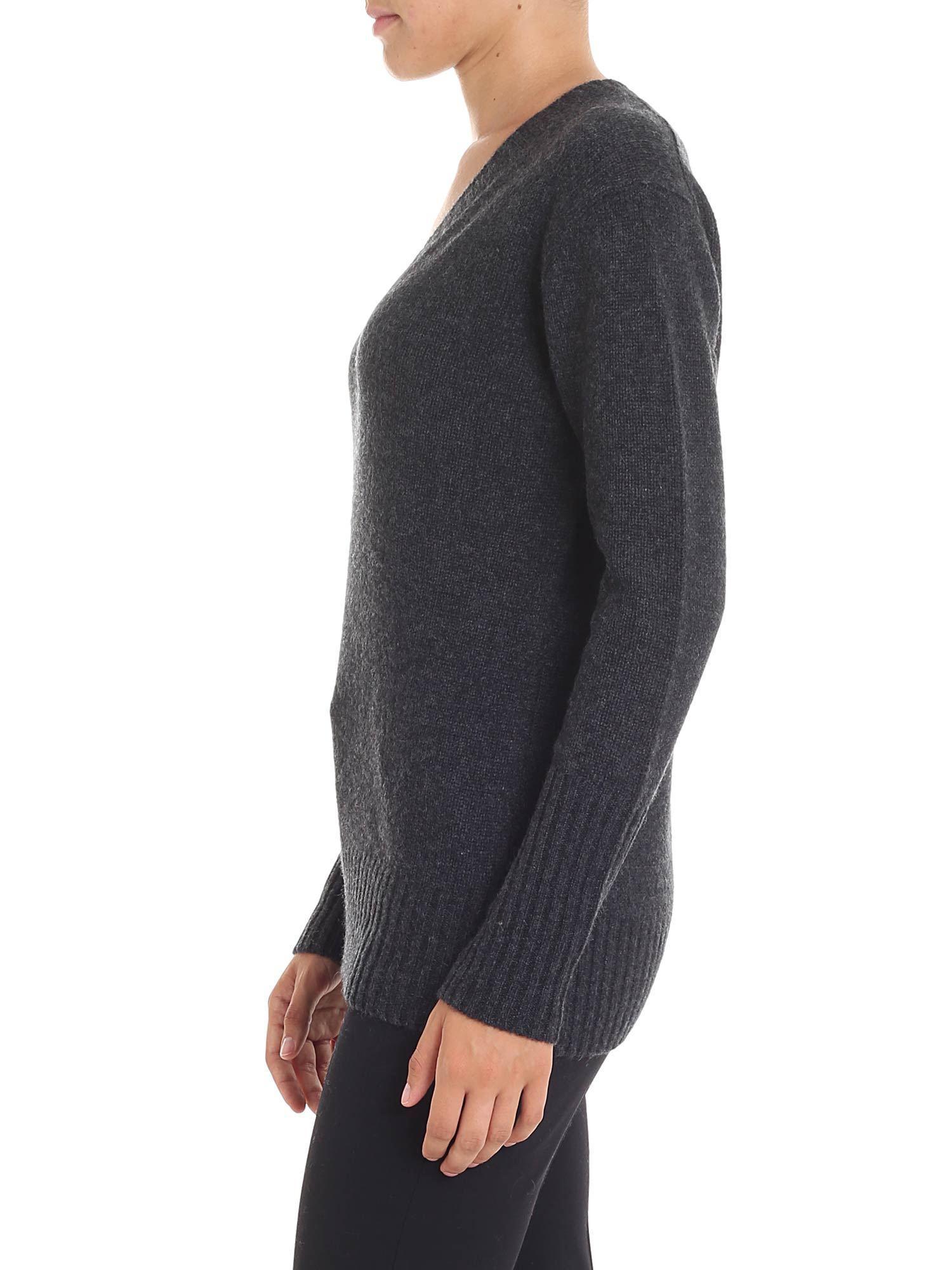 1a858883cd5 360cashmere Dark Grey Cashmere Runa Sweater in Gray - Lyst