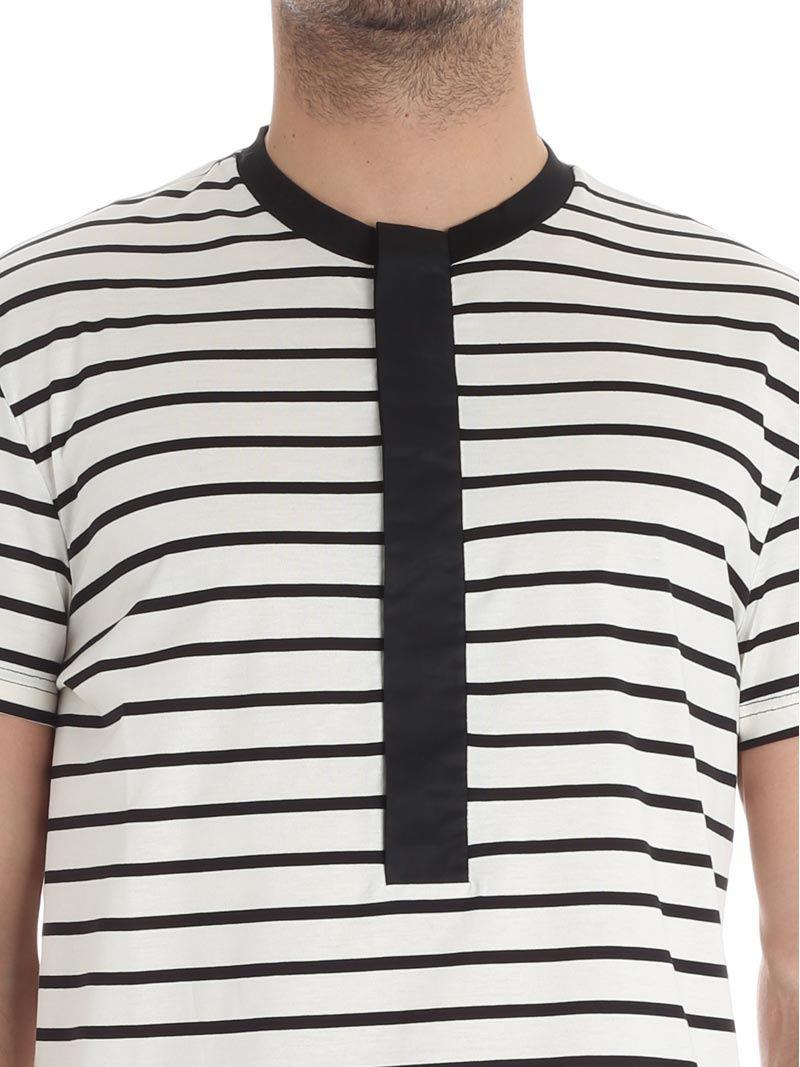 High Quality Cheap Price Cheap Perfect Cream and black striped T-shirt low brand Online Store 8jWmzDG