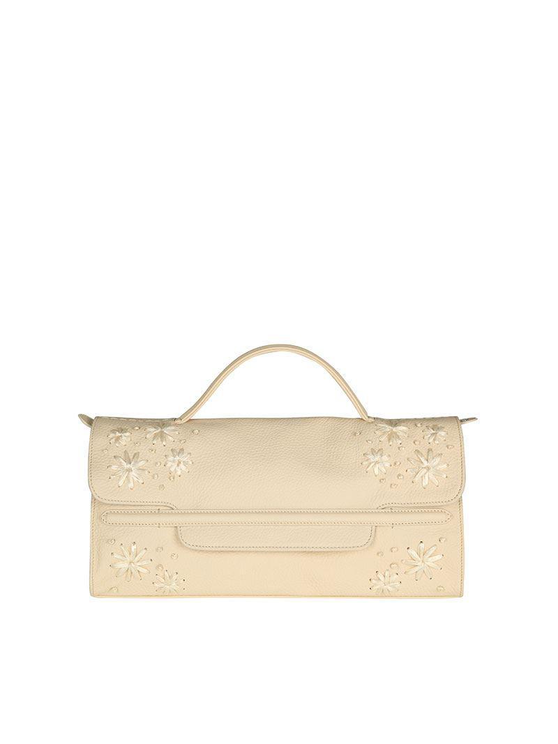 Zanellato White Nina M bag - Deruta Pura Line SX081ie8