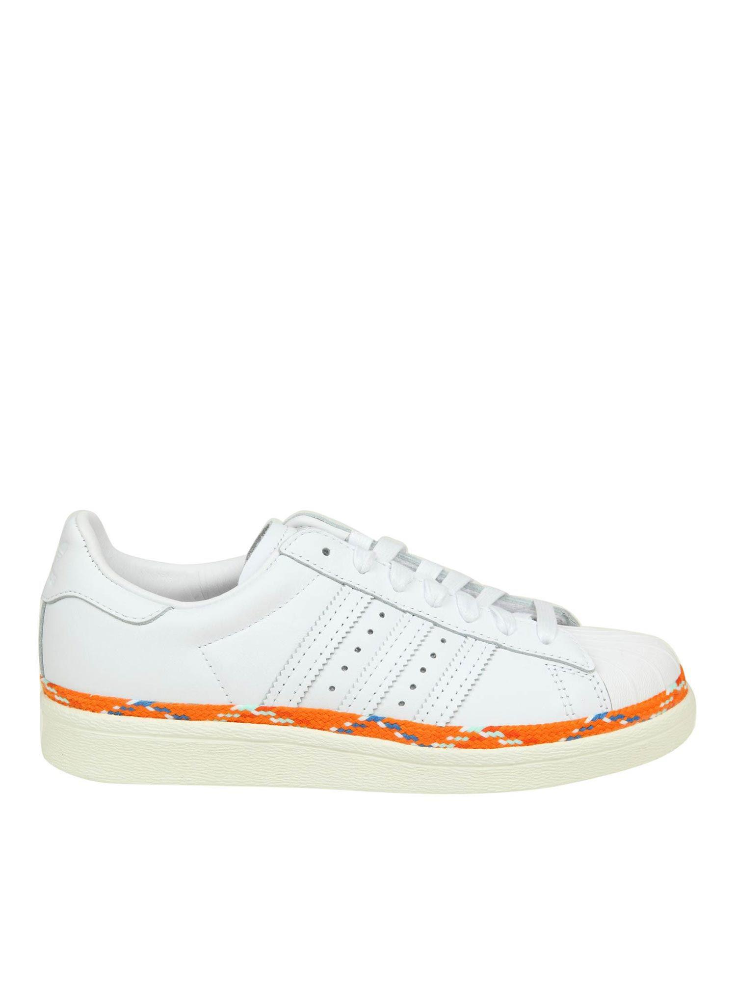 5f359bfc4ae Lyst - adidas Originals Superstar 80s New Bold Sneakers in White