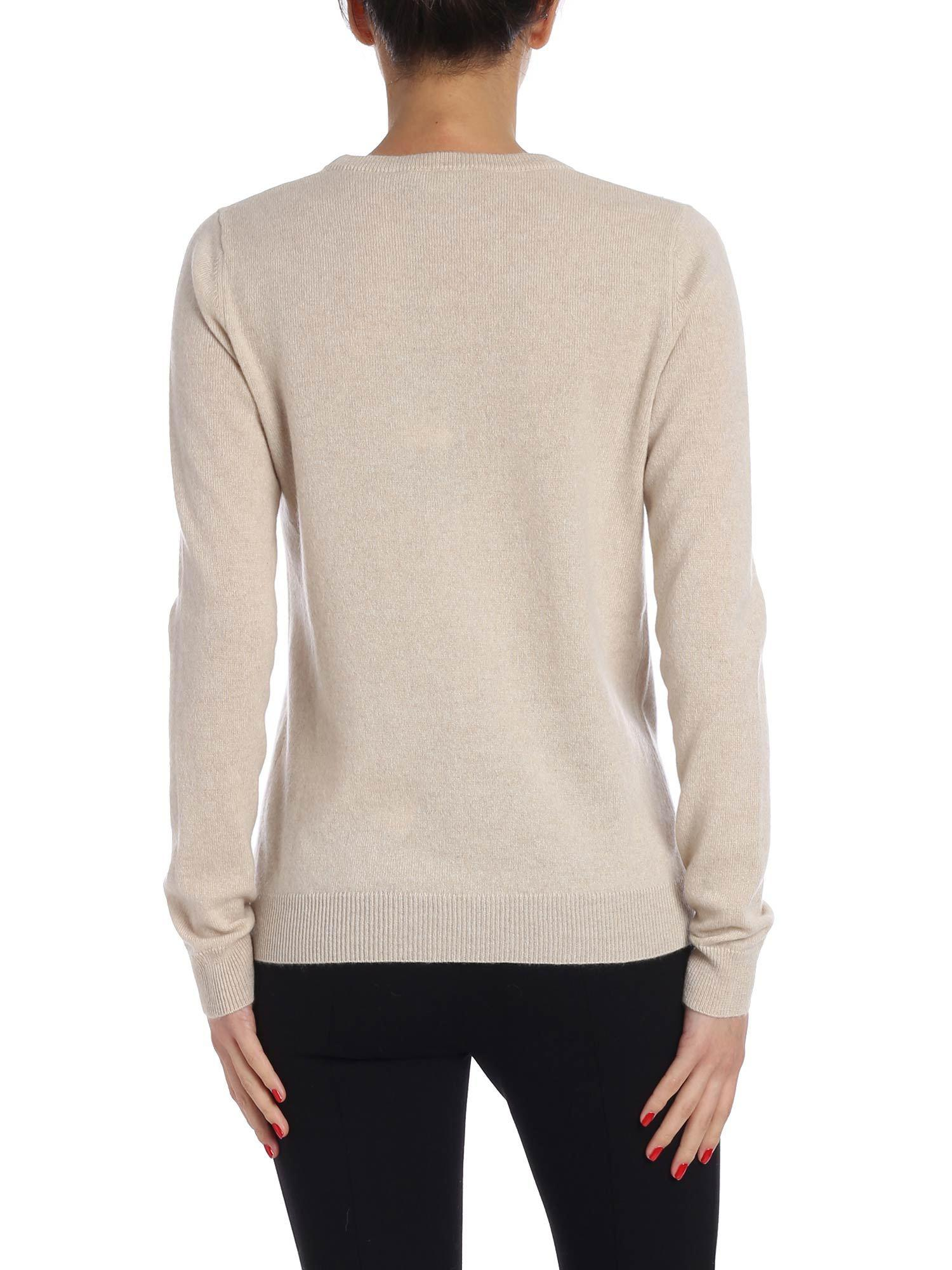 Weekend In By Lyst Pullover Maxmara Cashmere Natural Beige Ottobre qnHRaBw6q