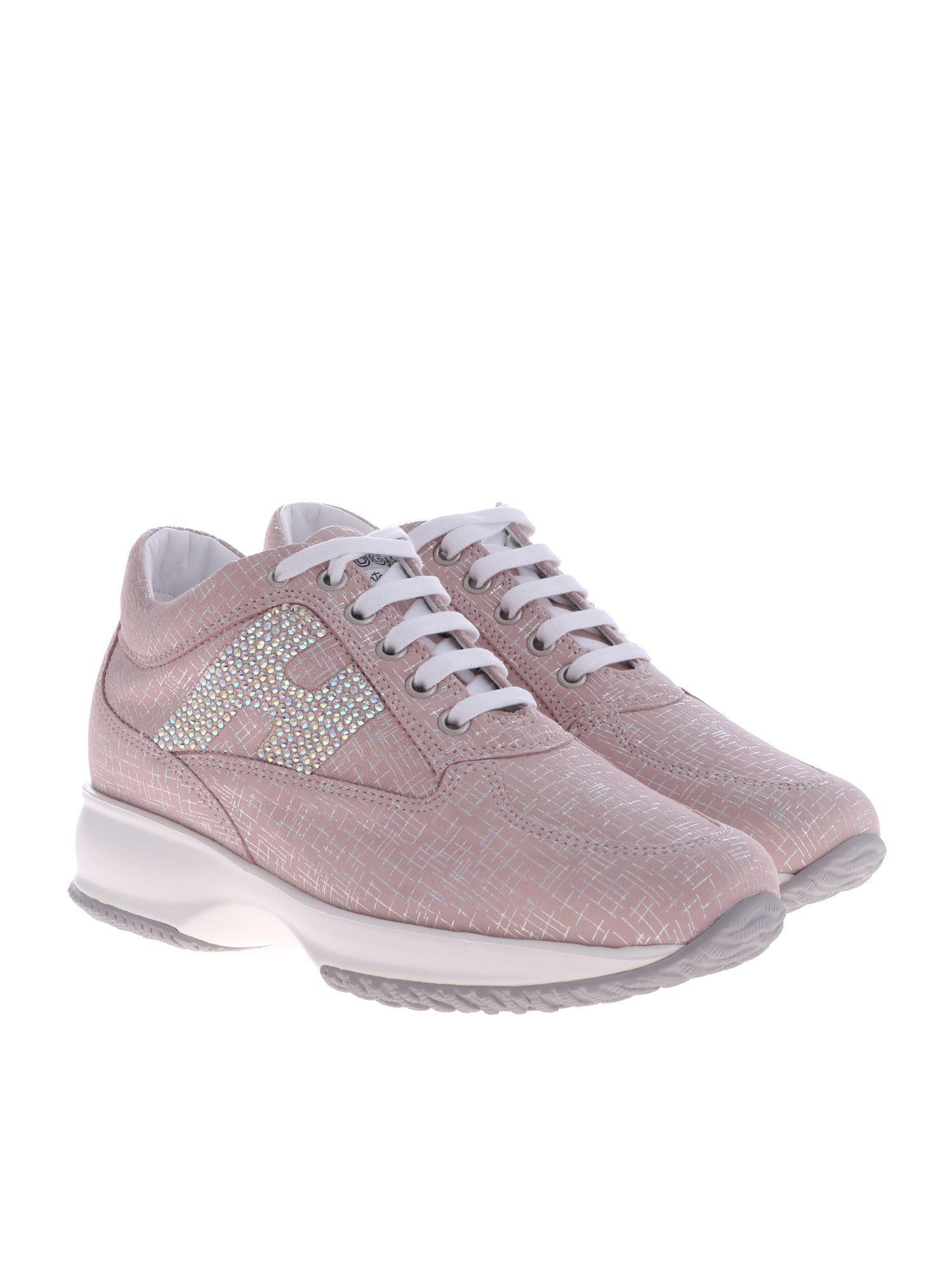 5bd97885eee Hogan Pink Interactive H Sneakers in Pink - Lyst