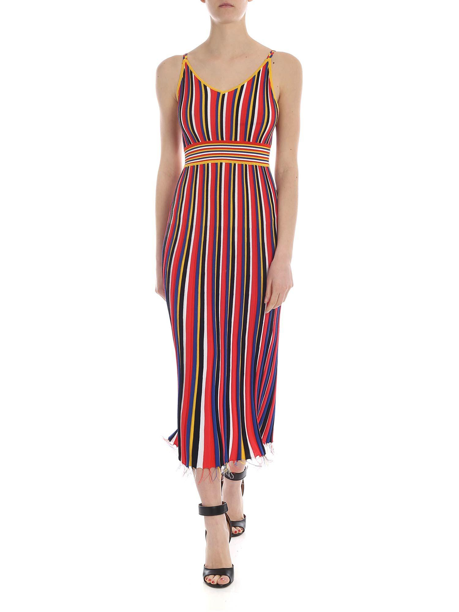 2914bdeef12 Lyst - Pinko Belcolore Dress With Multicolor Stripes in Red
