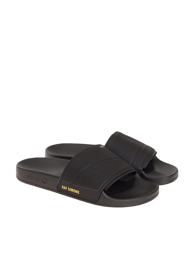 aee171650fa6ea adidas By Raf Simons Adilette Bunny Sliders in Black for Men - Lyst