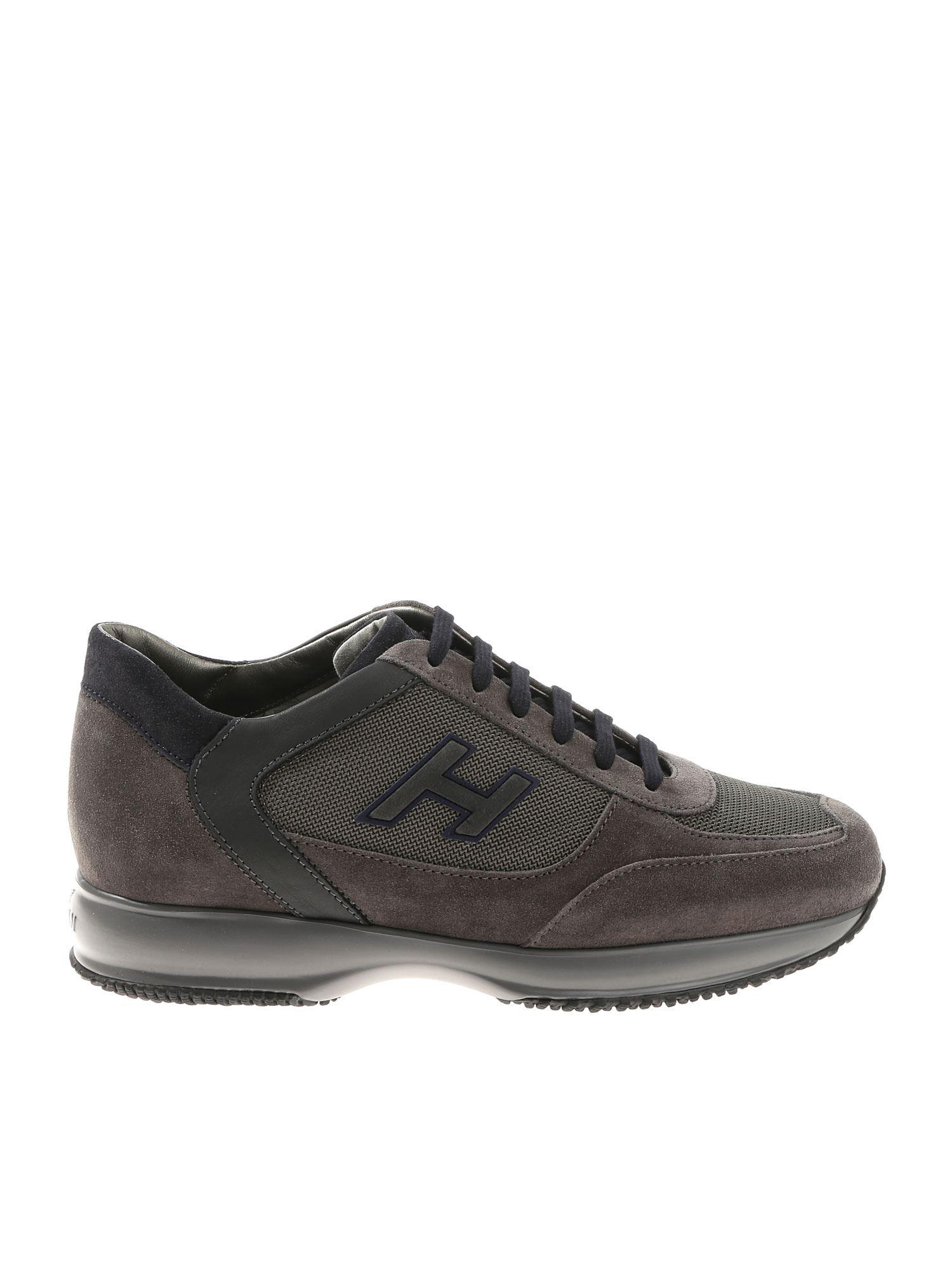 118fe2c66b0b Lyst - Hogan H Flock Interactive Gray And Blue Sneakers in Gray for Men