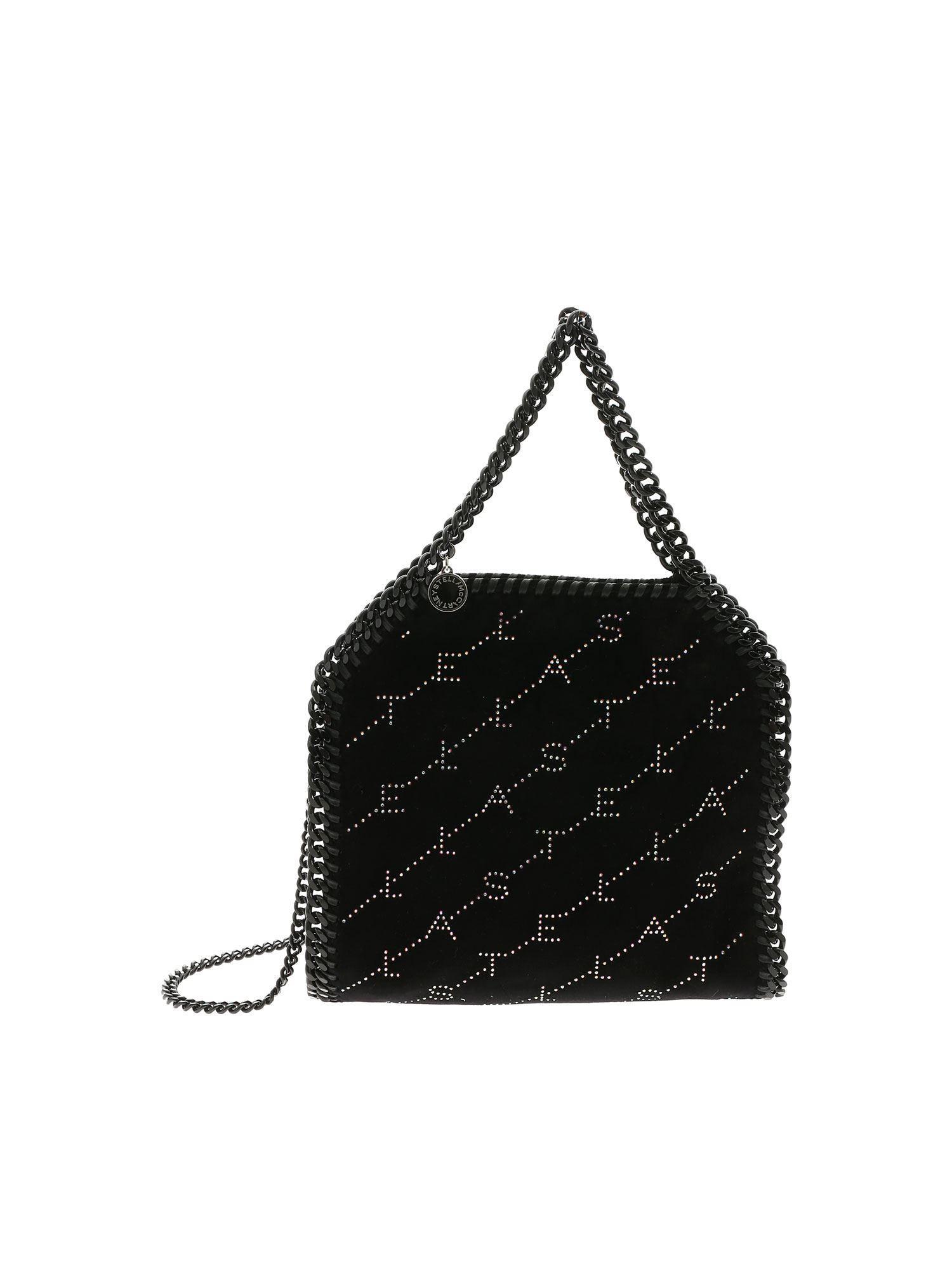 66df7b2a1478 Lyst - Stella Mccartney Falabella Mini Bag With Black Velvet Effect ...