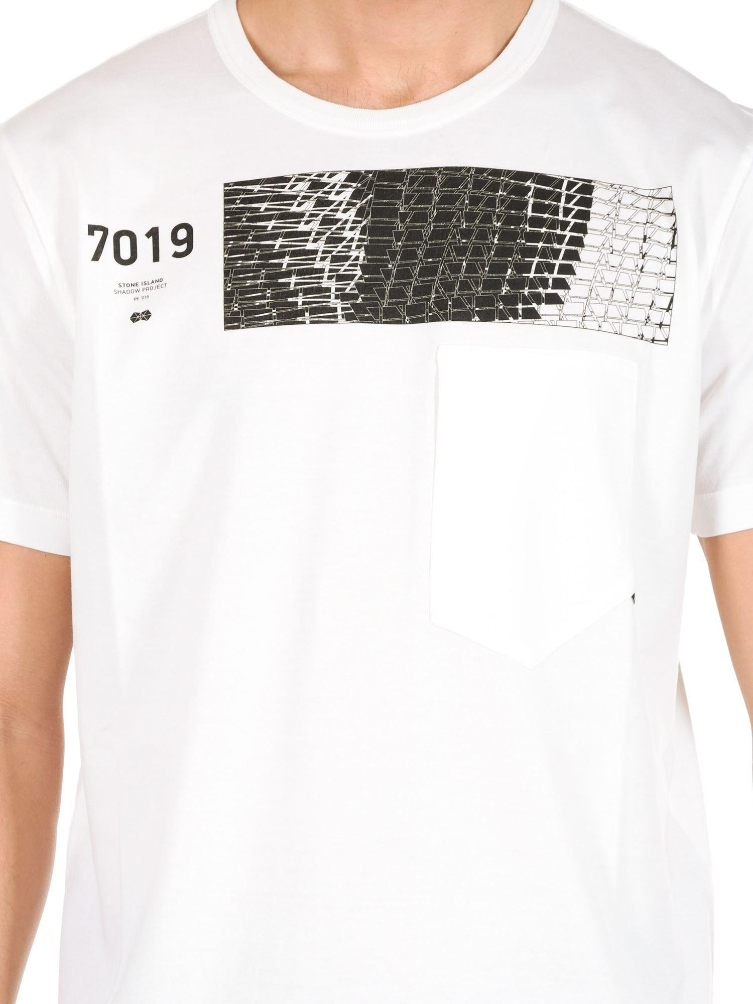 3c62f9d3312 Stone Island - Shadow Project White T-shirt for Men - Lyst. View fullscreen