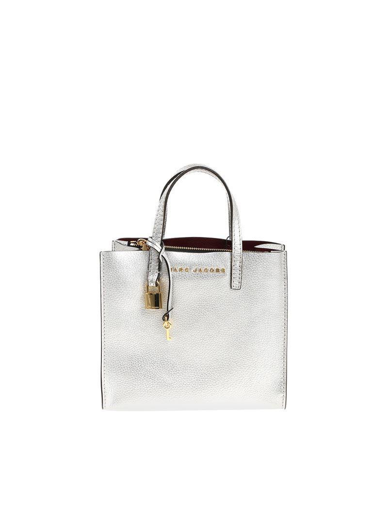3224bbd8722 Lyst - Marc Jacobs Silver Shoulder Bag in Metallic