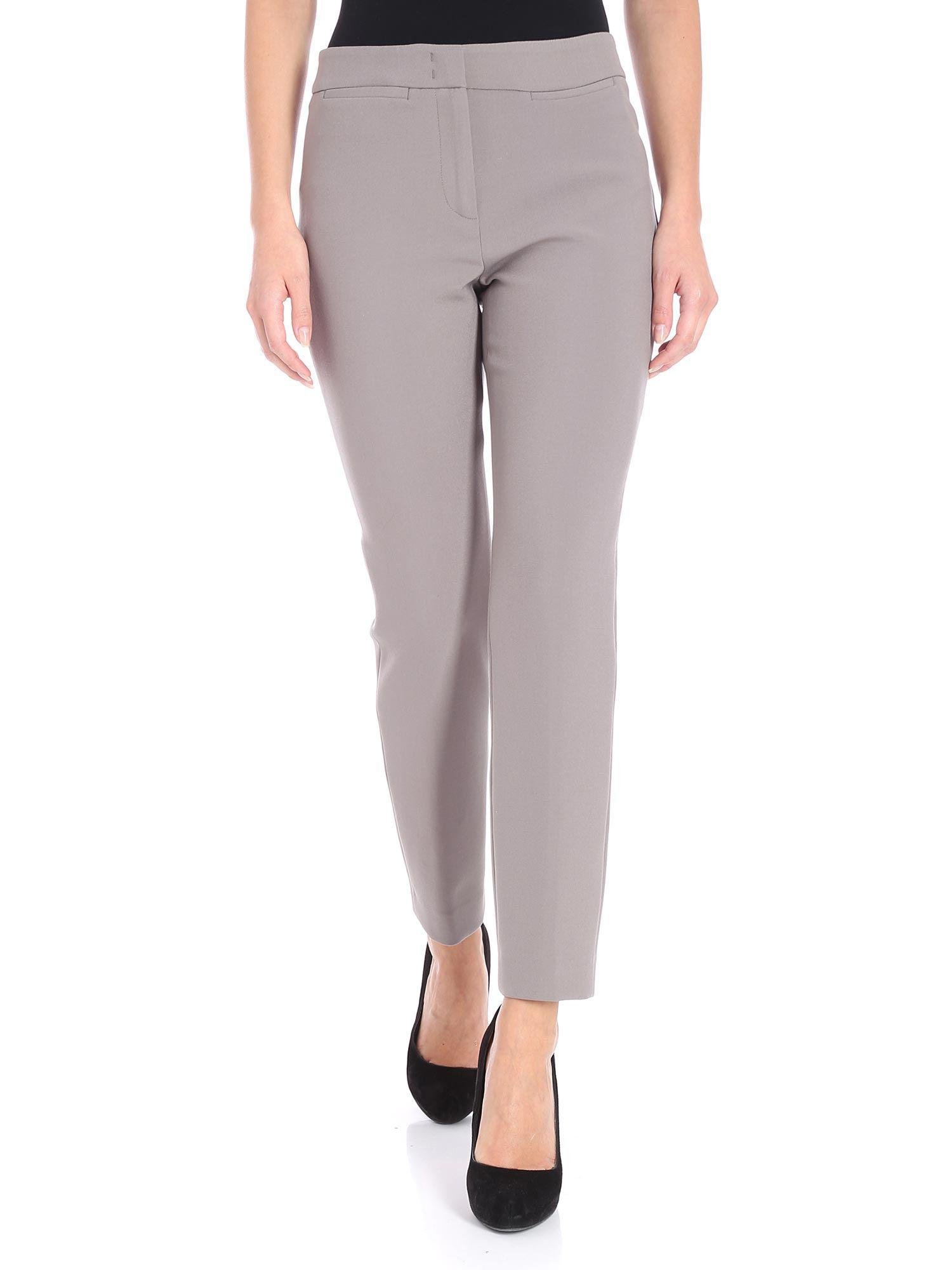 Fabric Lyst Peserico Taupe Milano Trousers OZkiPXu