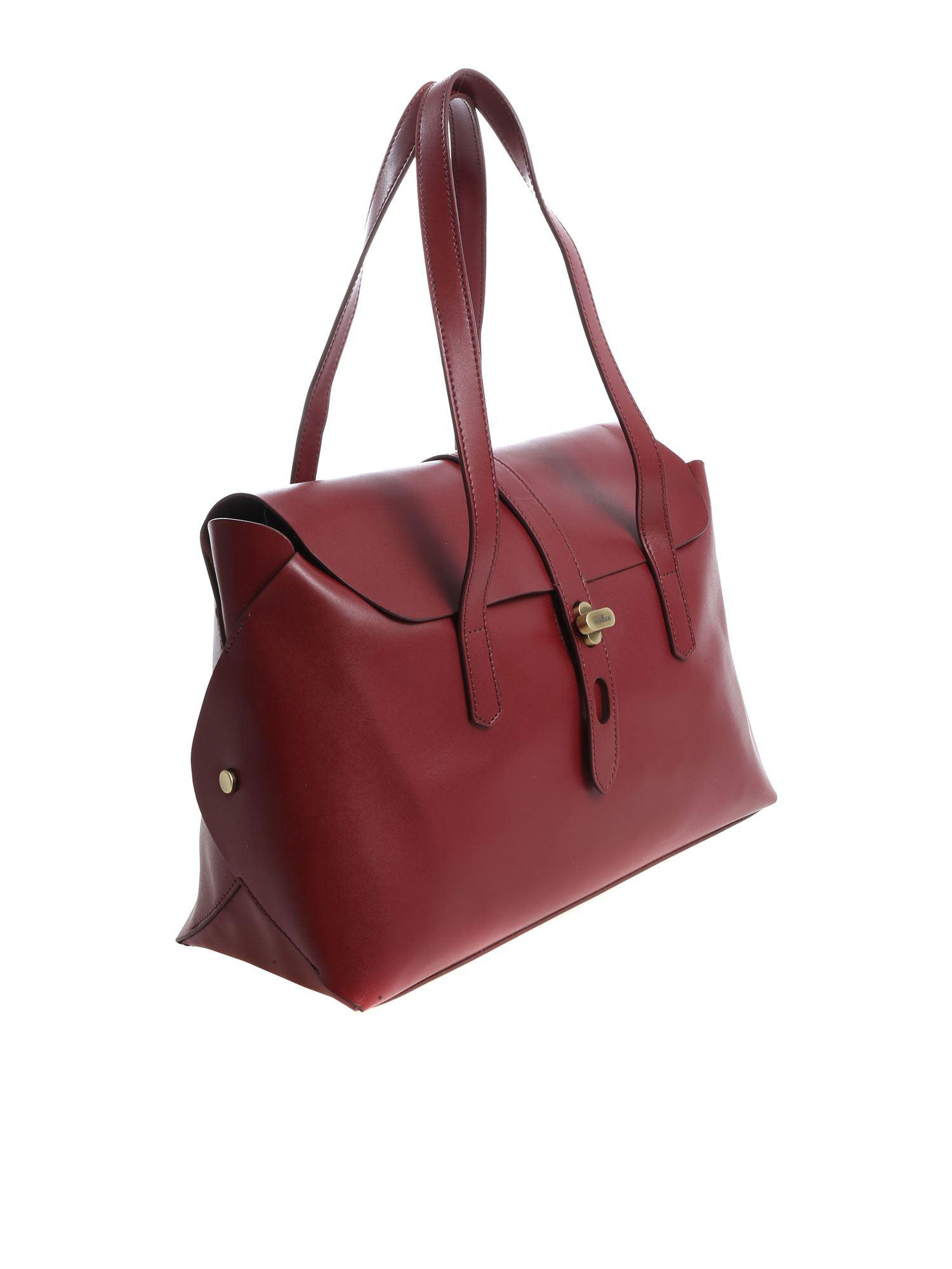 Hogan - Red Burgundy Shoulder Bag With Flap - Lyst. View fullscreen 818fb7906a754