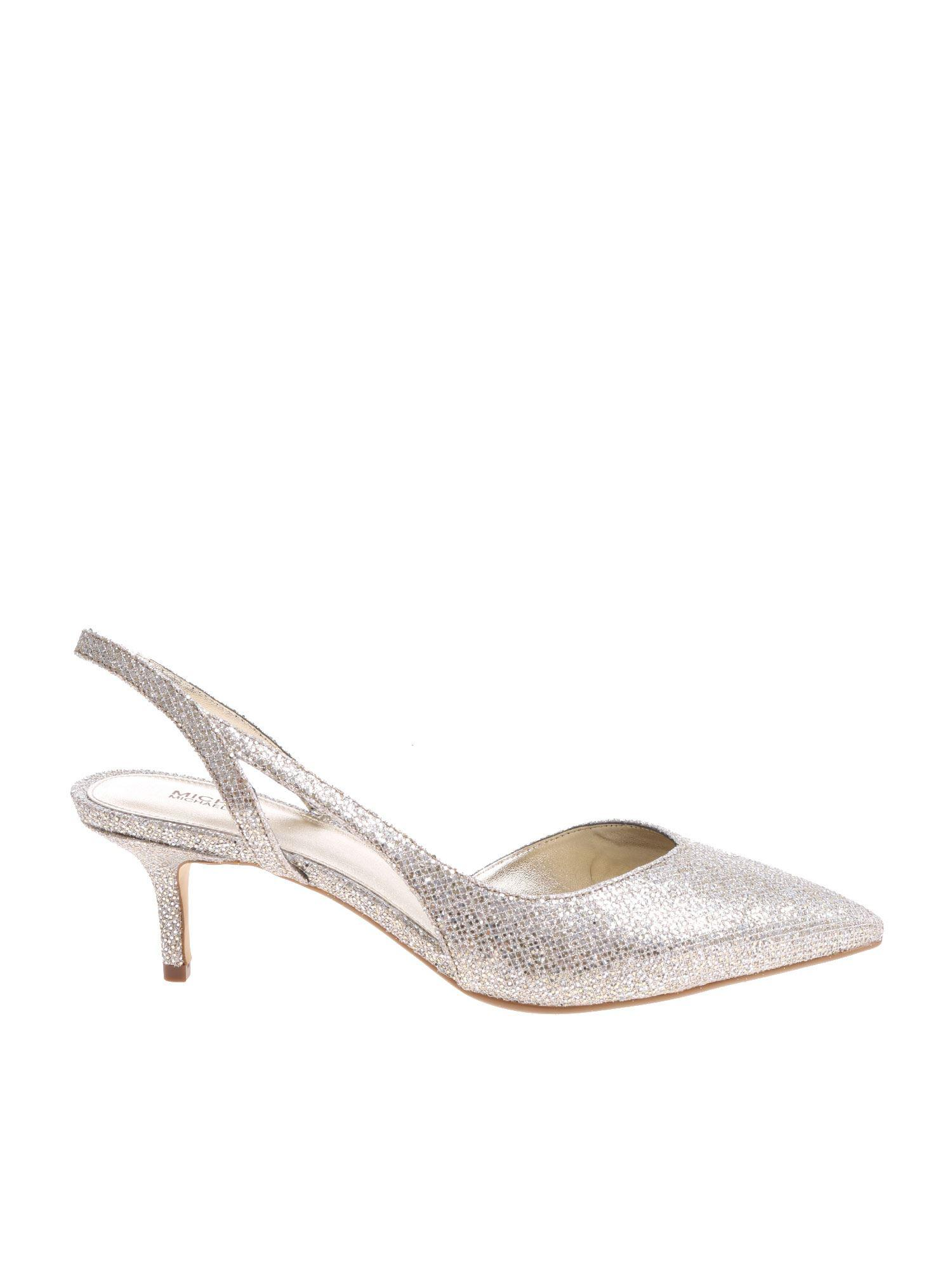 e7857a7314f3 Michael Kors Silver Eliza Flex Kitten Pumps in Metallic - Lyst