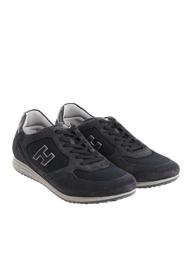 Blue suede Olympia sneakers Hogan B57R89kTg