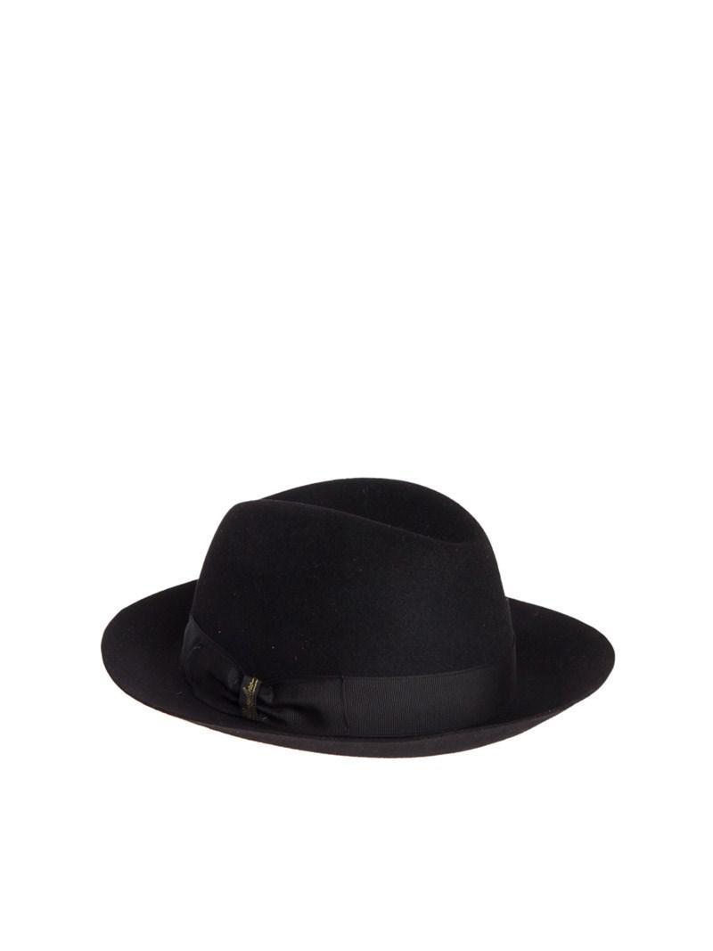 Borsalino - Black Folar Matilde Hat - Lyst. View fullscreen 374a5e383aa8