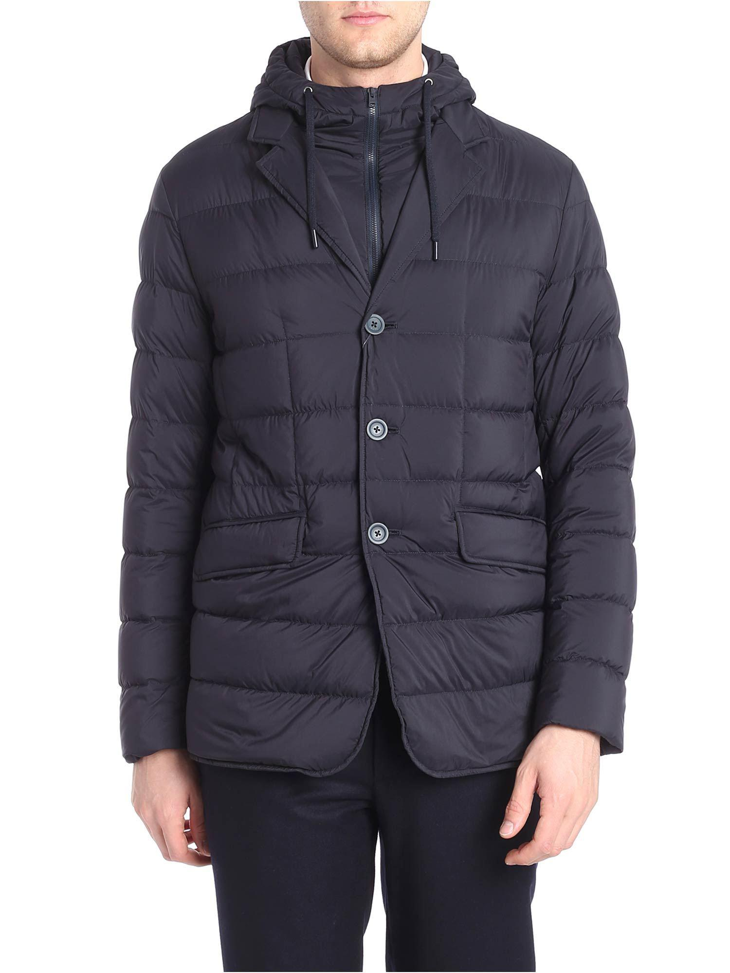 39e84478d07f Herno Blue Down Jacket With Removable Insert in Blue for Men - Lyst