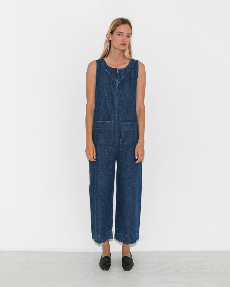 6e8c4607f1f Lyst - Ilana Kohn Denim Geneva Jumpsuit in Blue
