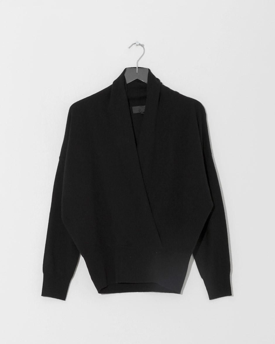 3097cace11 Lyst - Nili Lotan Black Lakota Sweater in Black