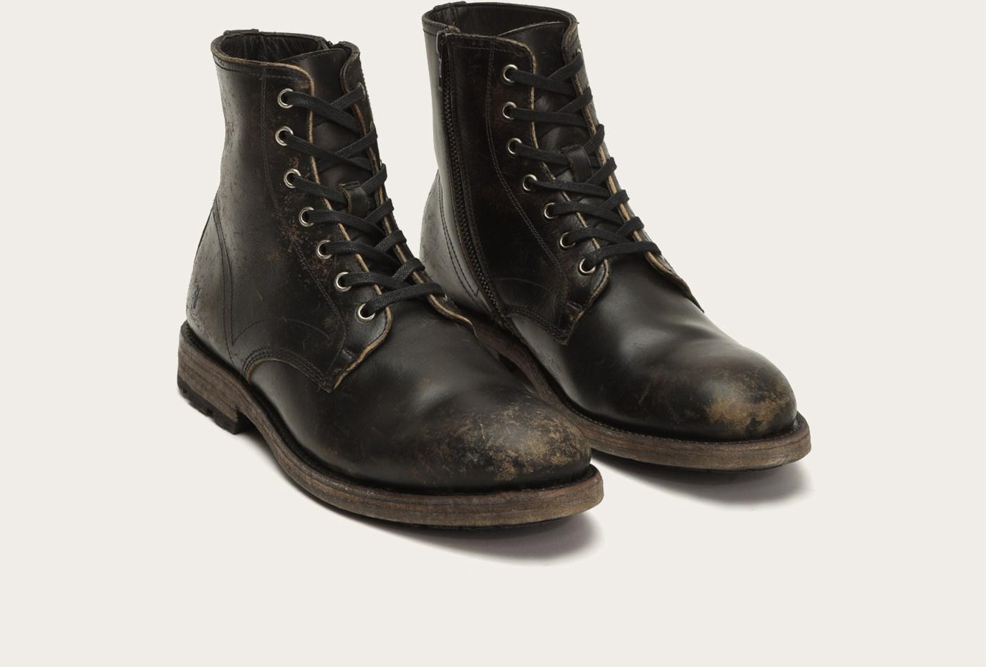 Frye - Black Bowery Lace Up for Men - Lyst. View fullscreen